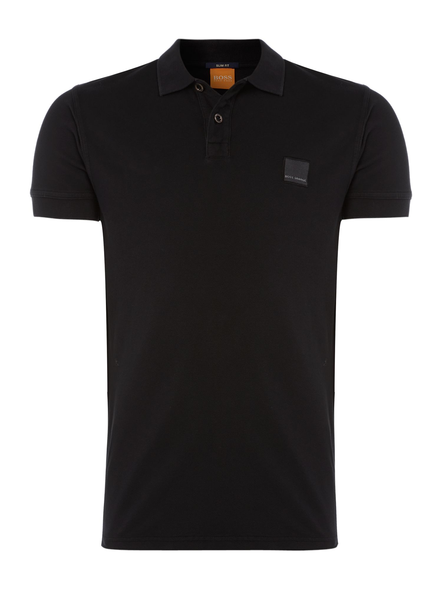 Men's Hugo Boss Pascha slim fit logo polo shirt, Black