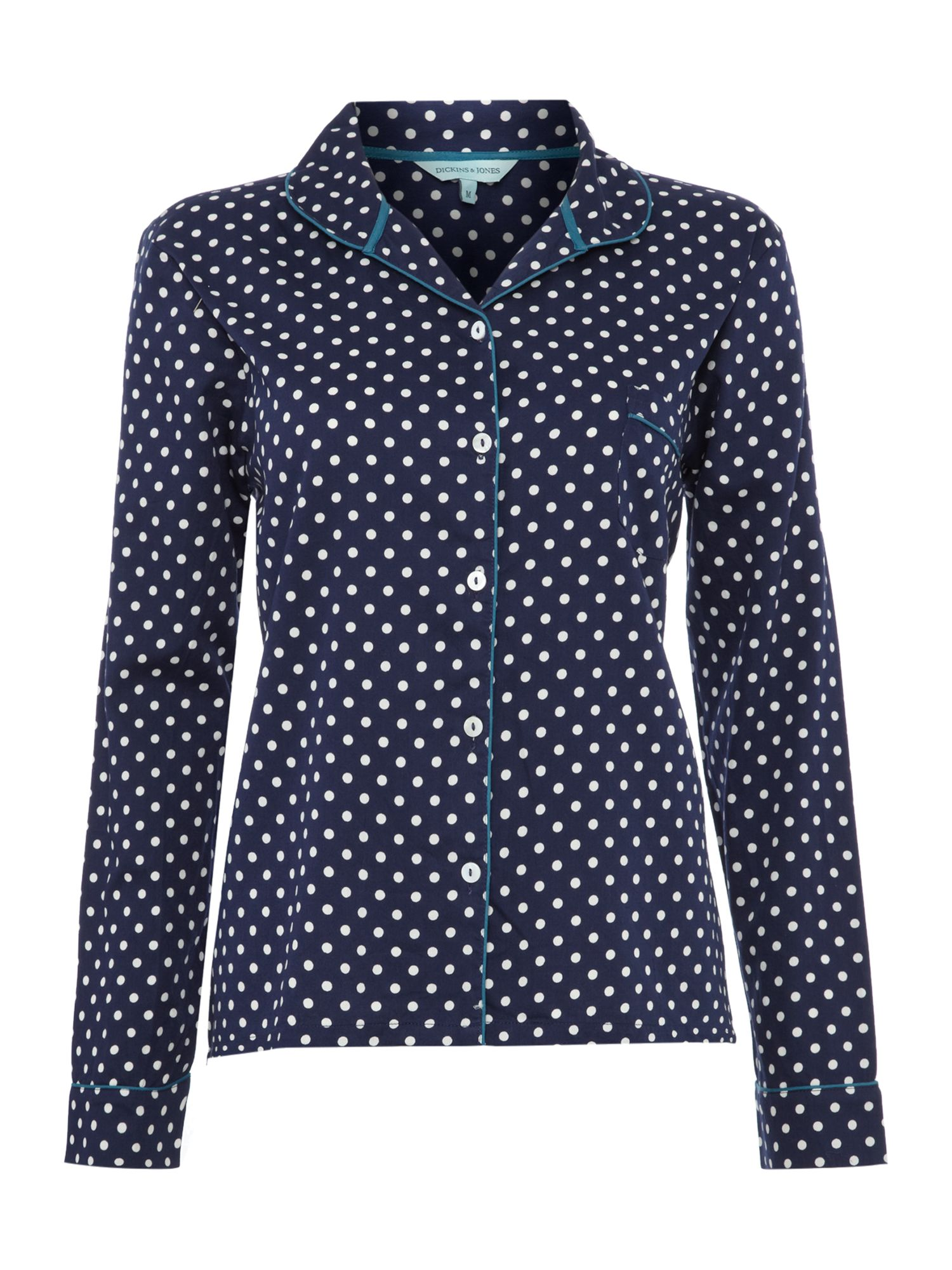 Florence spot long sleeve pj top