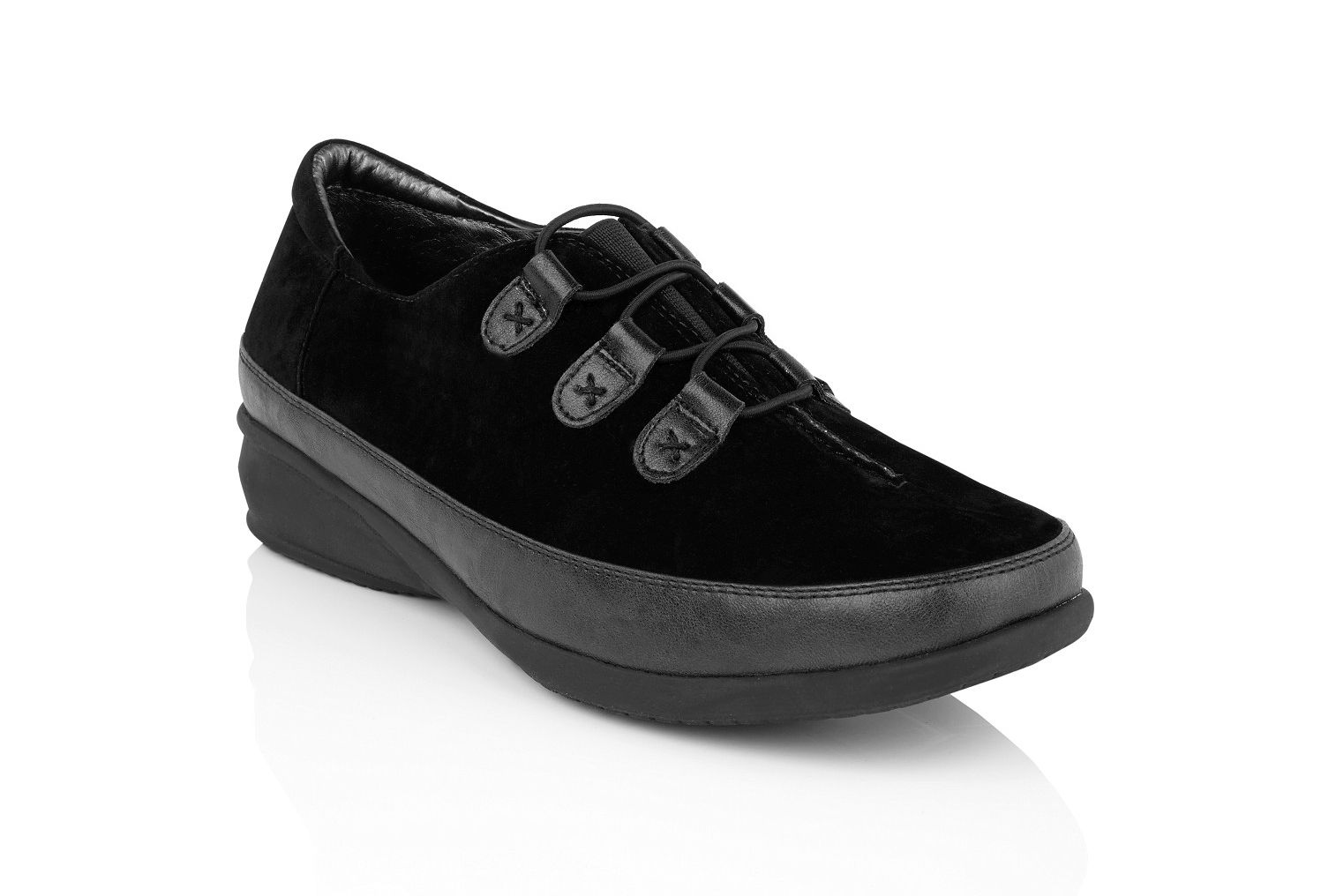 Black suedette trainer