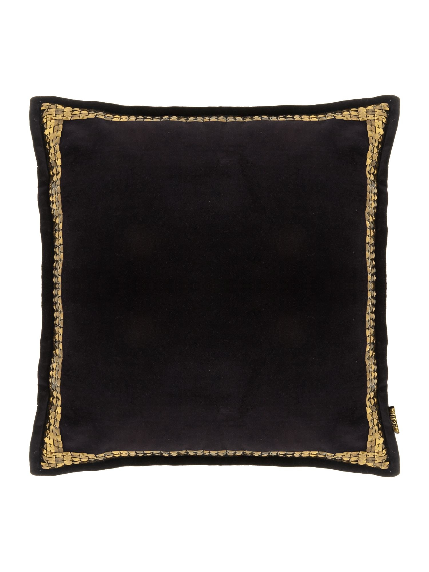 house of fraser biba velvet studded cushion black ebay. Black Bedroom Furniture Sets. Home Design Ideas