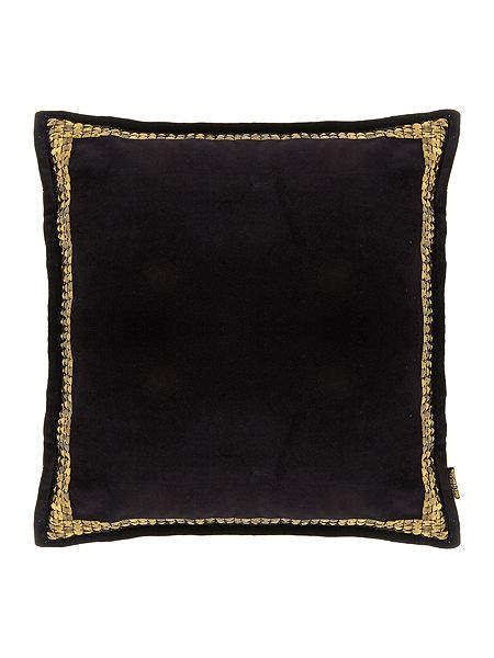 biba black velvet studded cushion house of fraser. Black Bedroom Furniture Sets. Home Design Ideas
