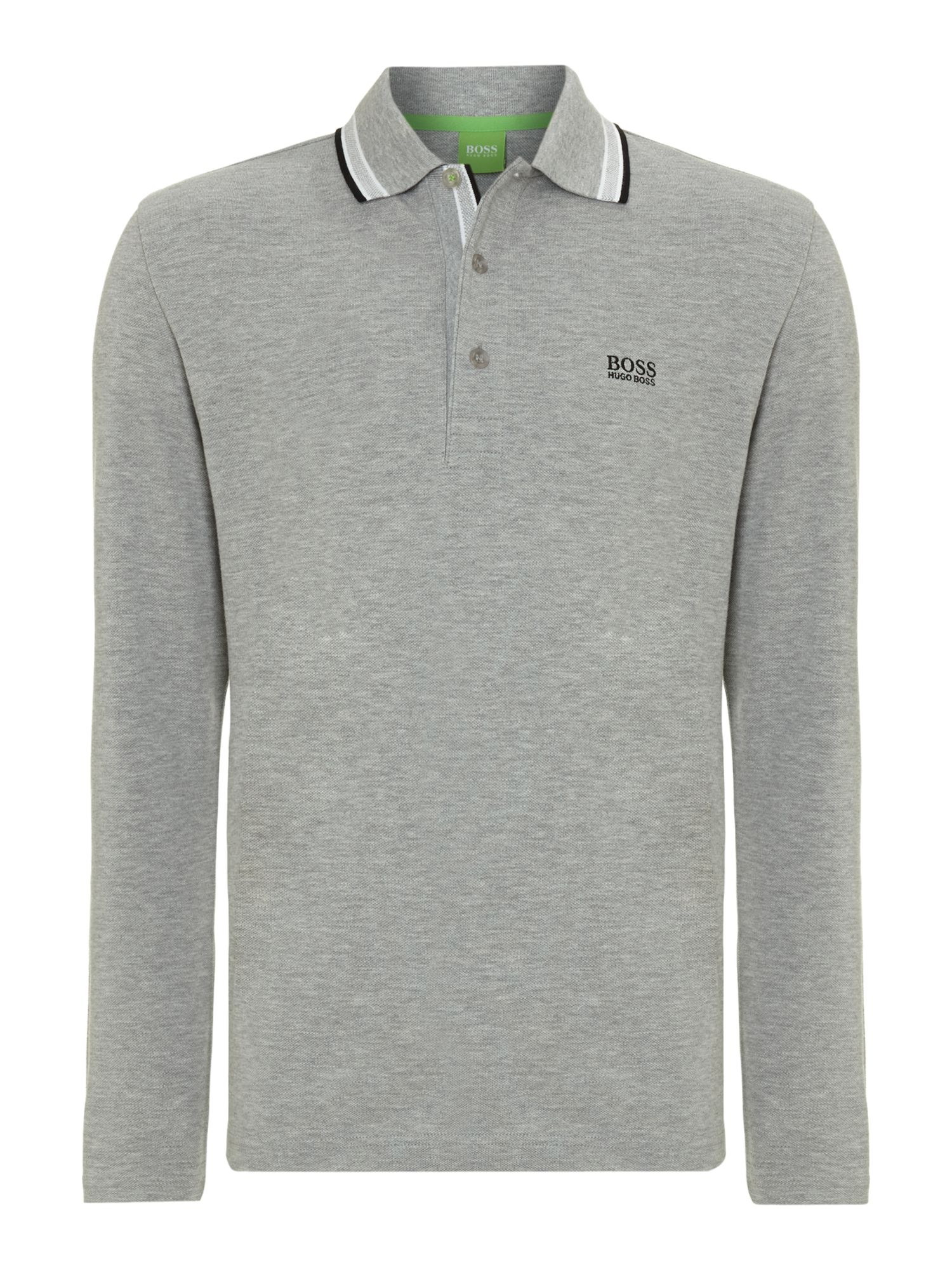 Long sleeve plosy polo shirt