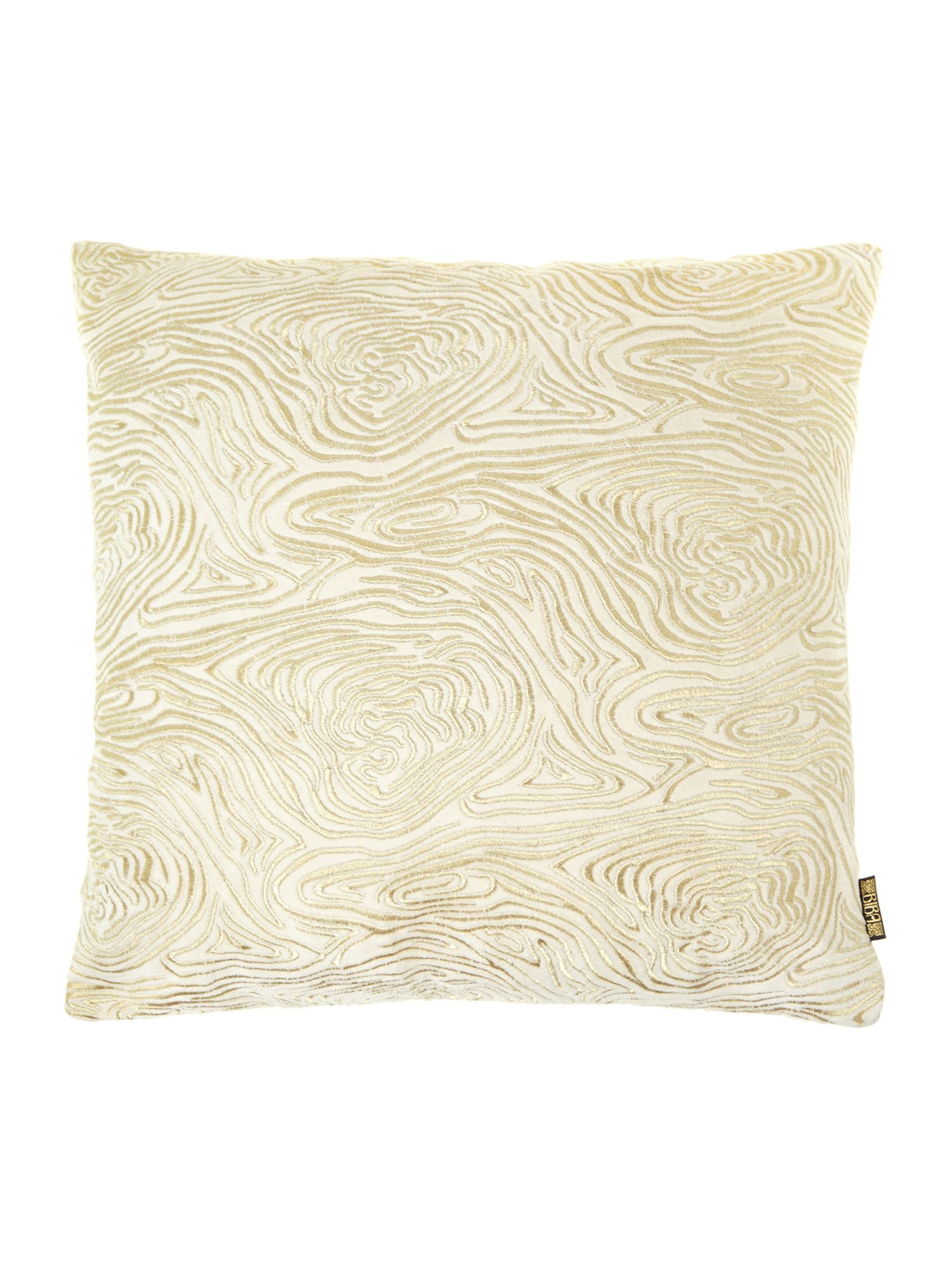 Cream swirl embroided cushion