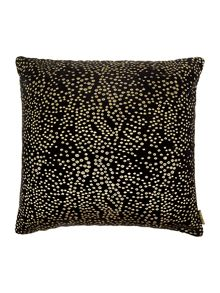 Black dot embroided cushion