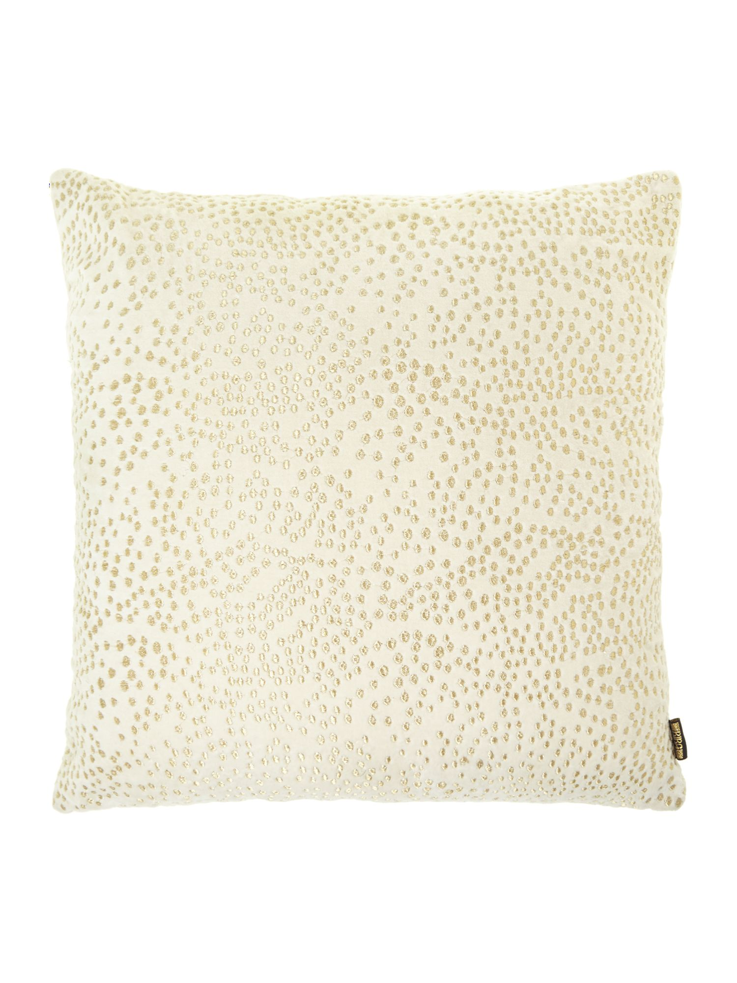 Cream dot embroided cushion