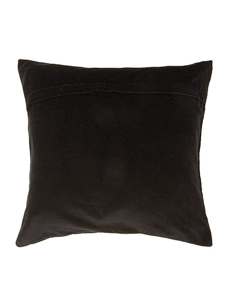 biba black velvet biba logo cushion house of fraser. Black Bedroom Furniture Sets. Home Design Ideas