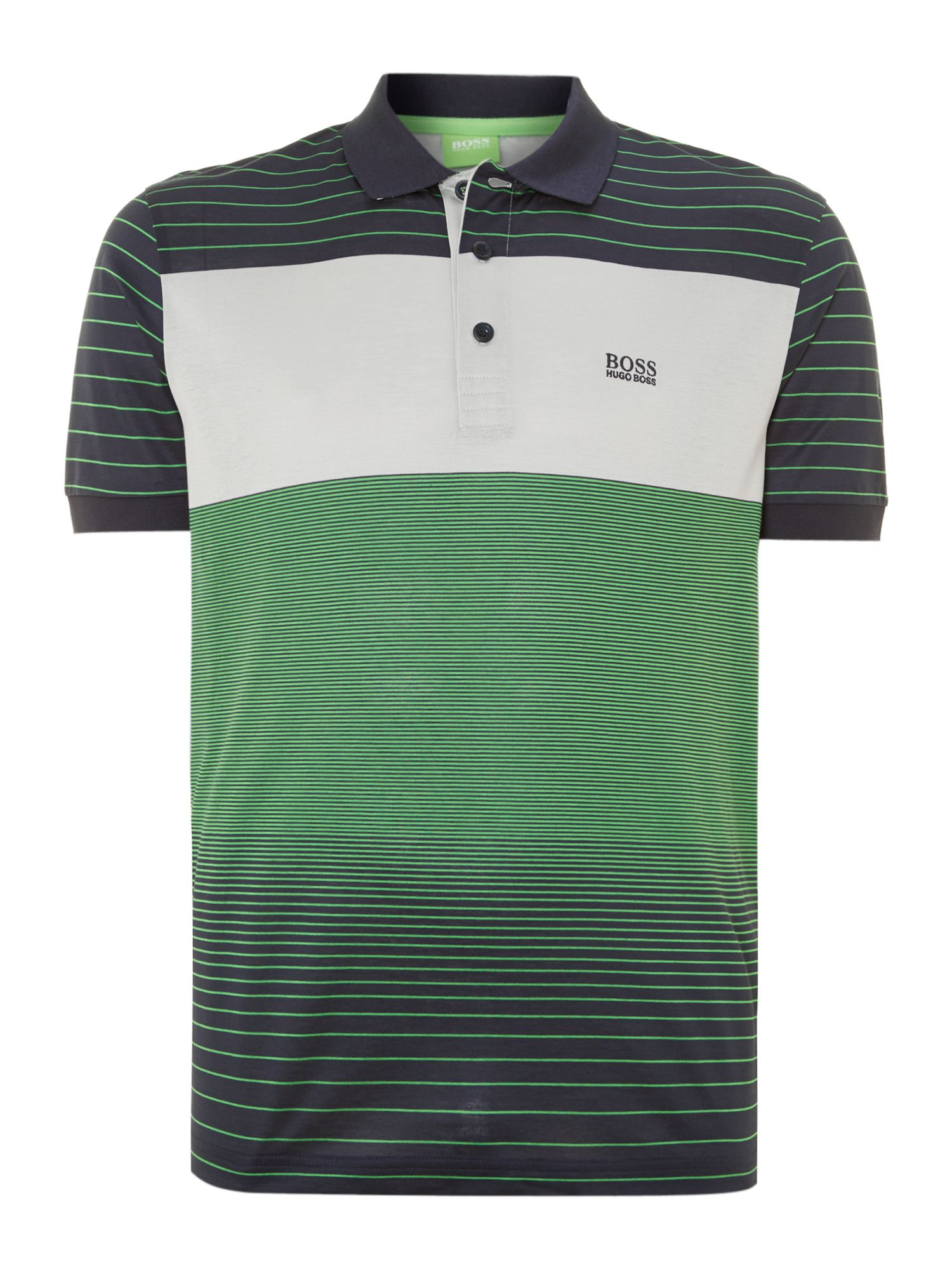 Mercerised stripe polo shirt