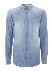 Hugo Boss Chambray print button down shirt