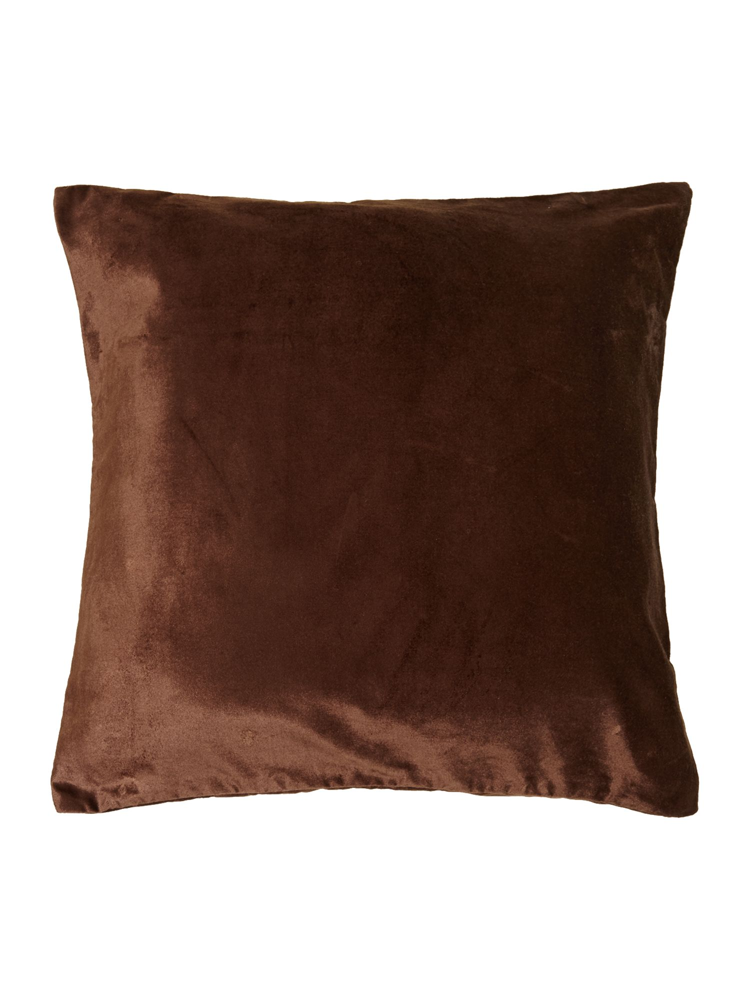 Chocolate oversized velvet cushion