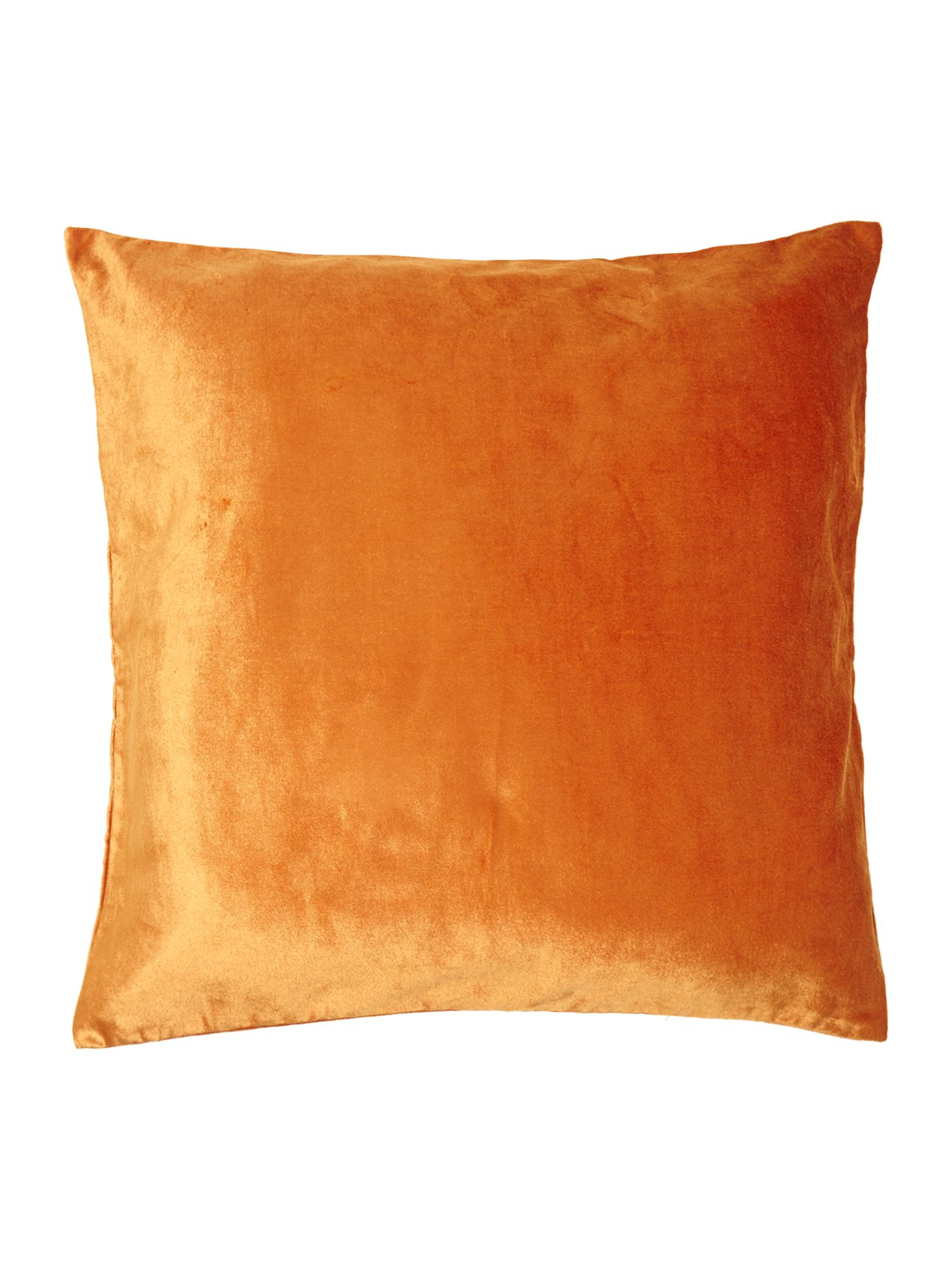 Rust oversized velvet cushion