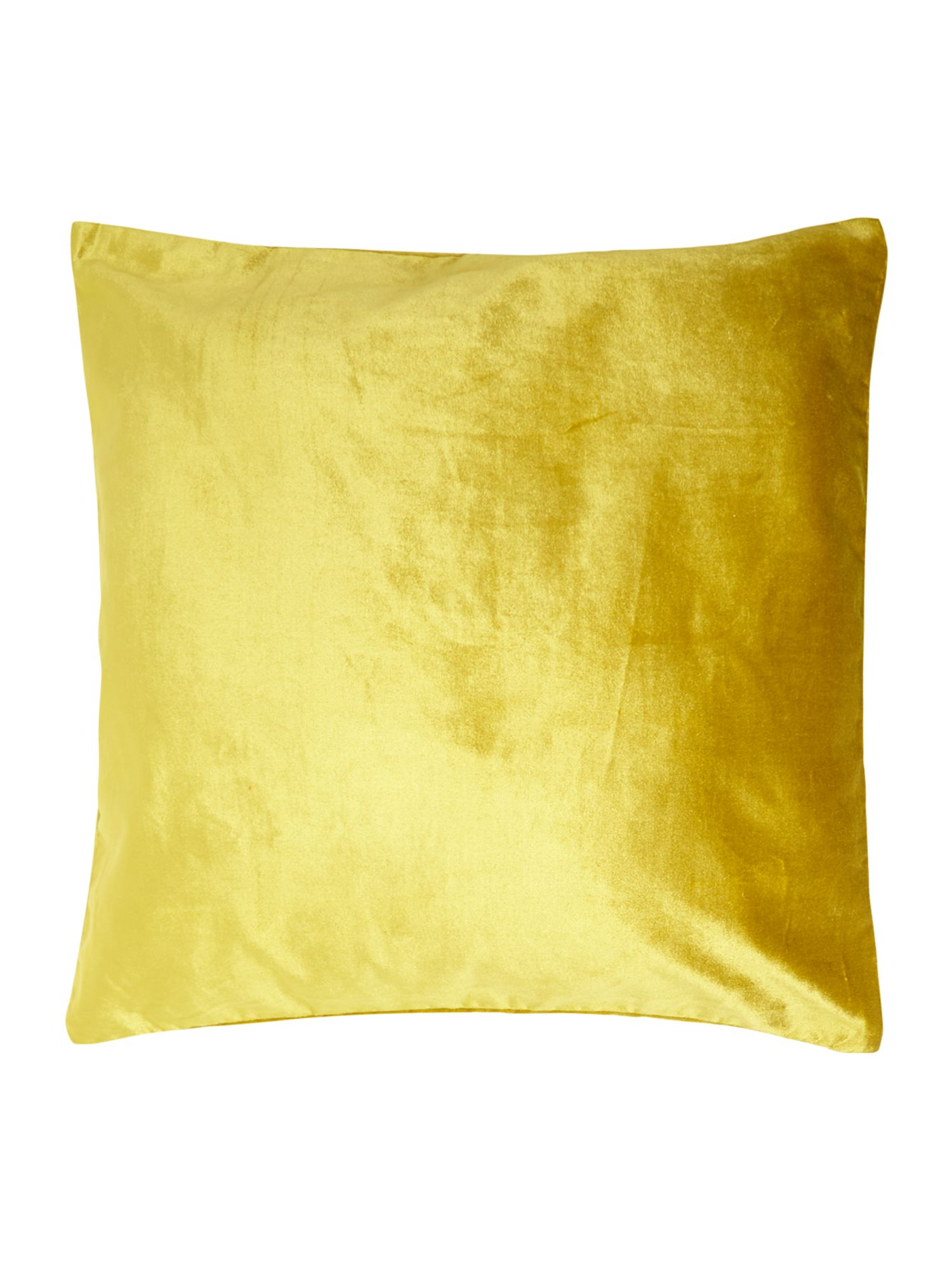 Oversized velvet cushion, lime