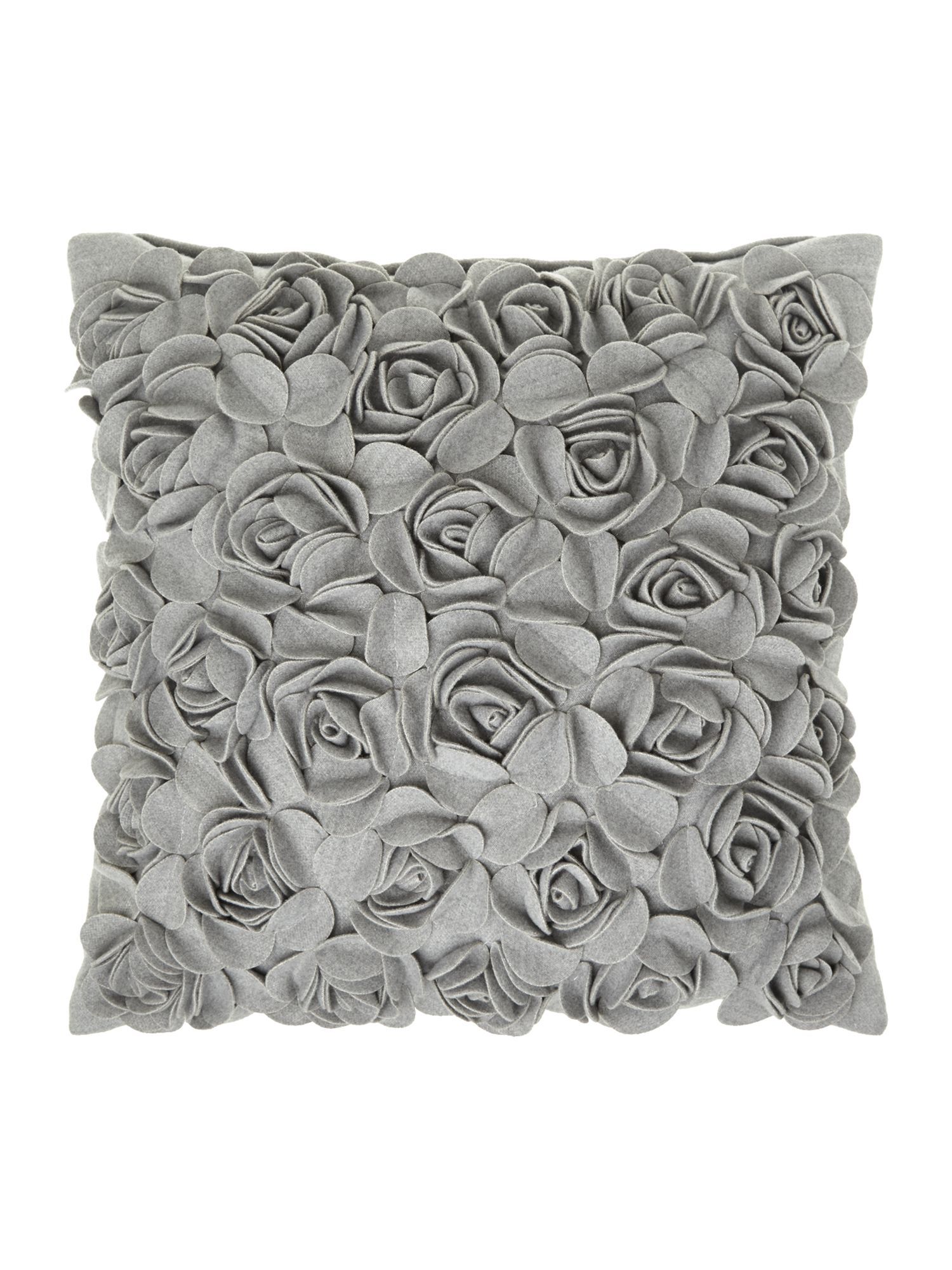 Light grey rose felt cushion