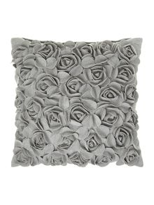 Linea Light grey rose felt cushion