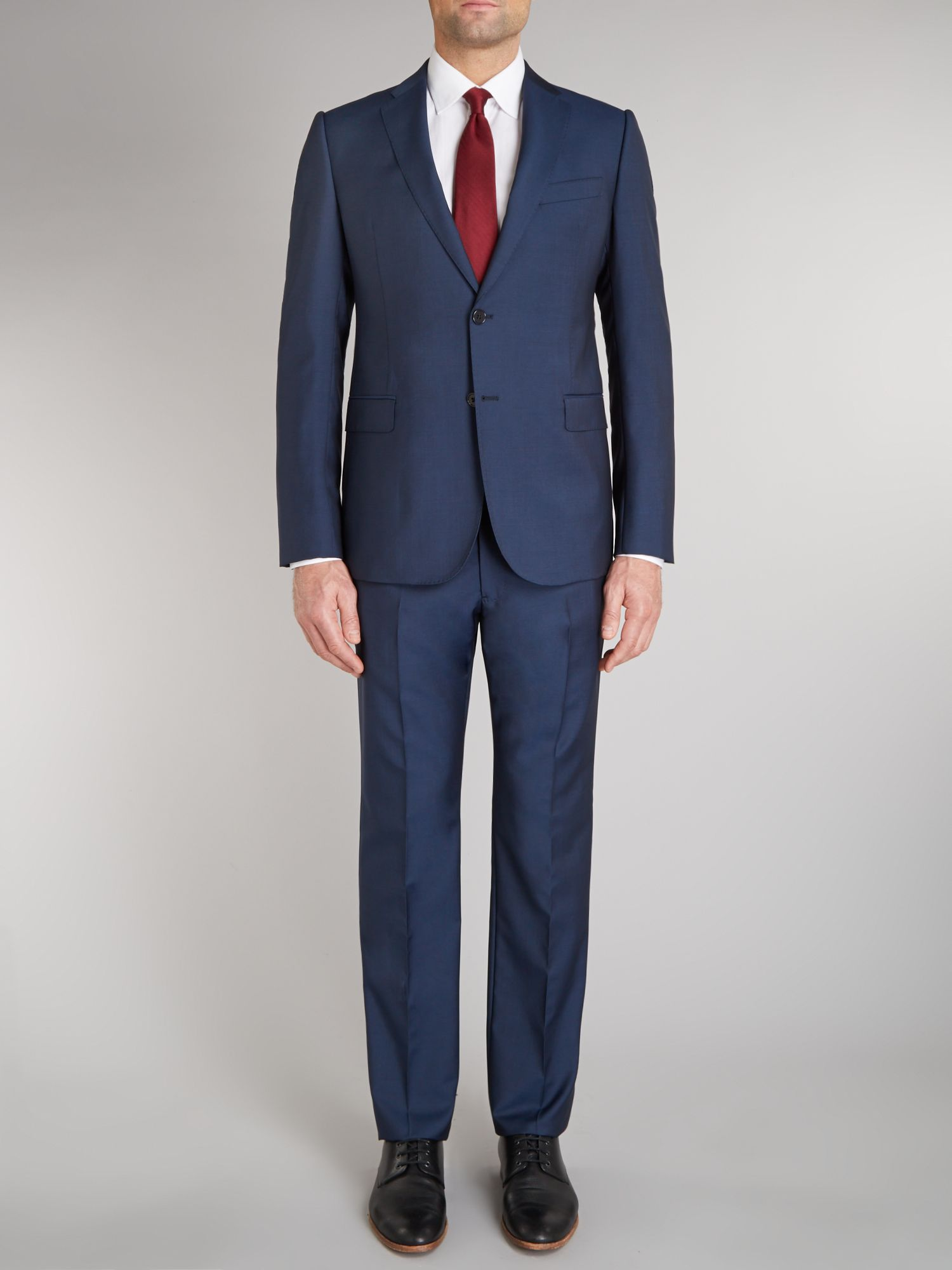 Metro mohair solid slim fit suit
