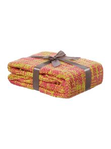 Pink woven throw