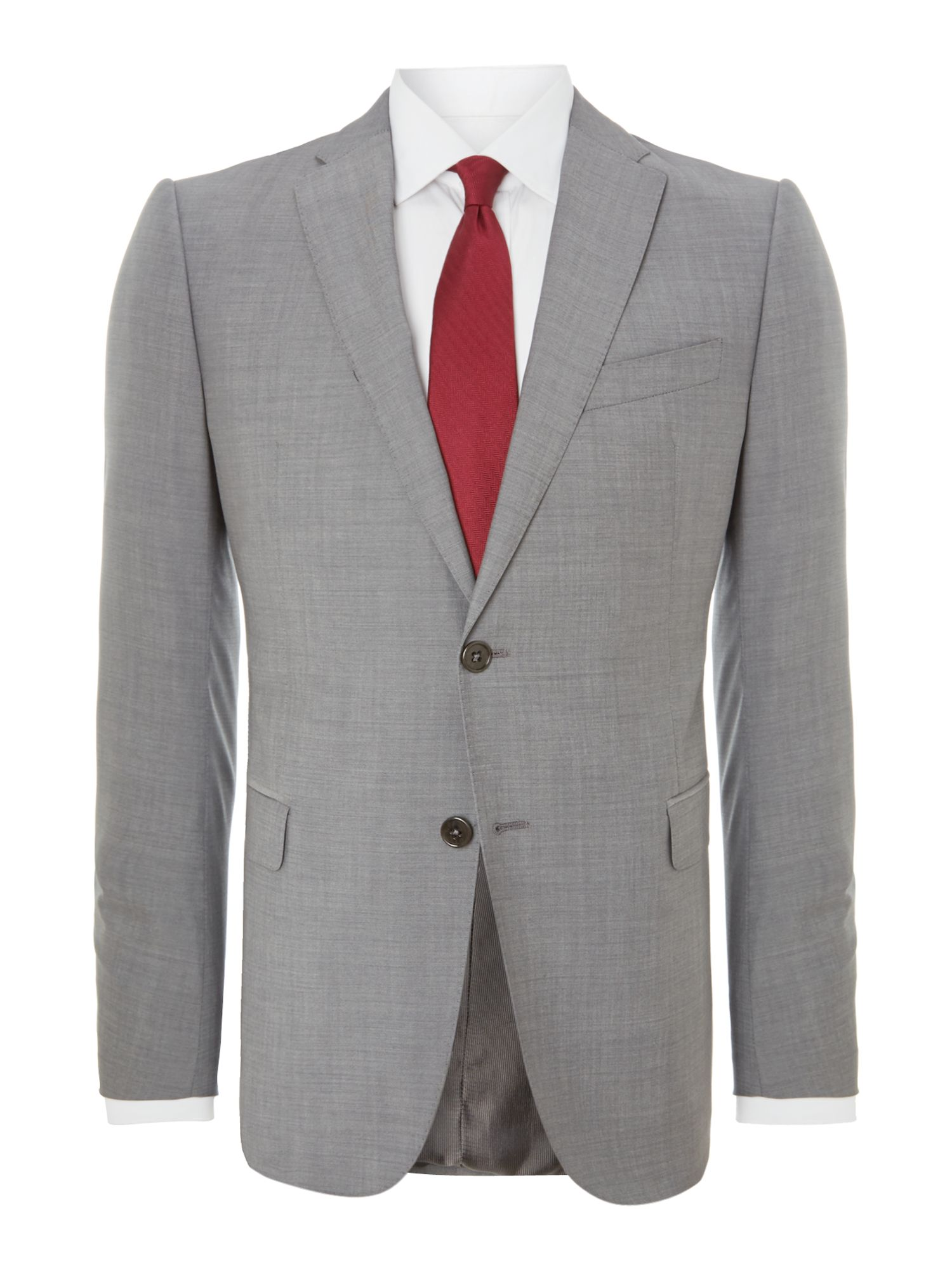 Metro textured slim fit suit
