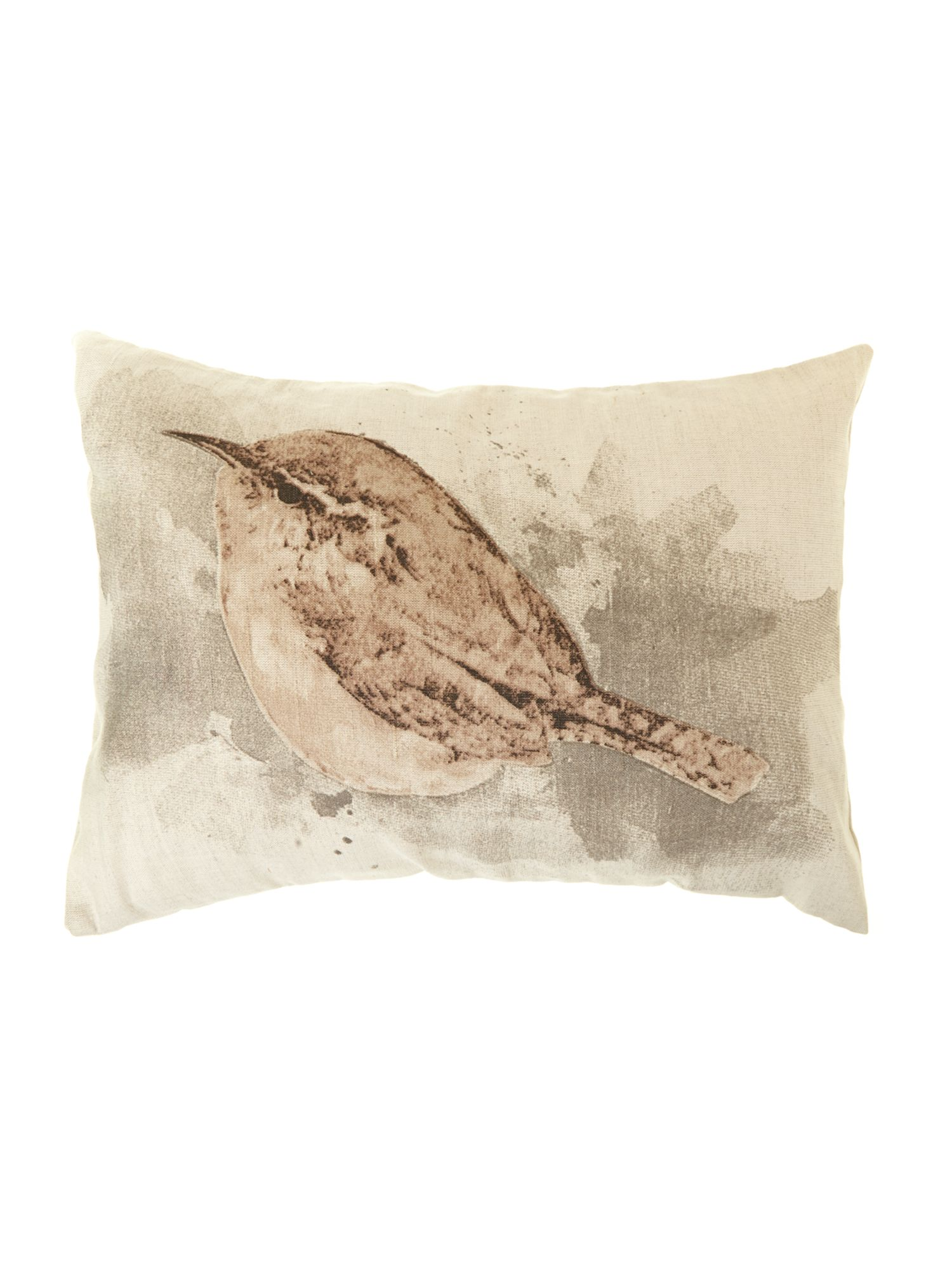 Printed sparrow cushion