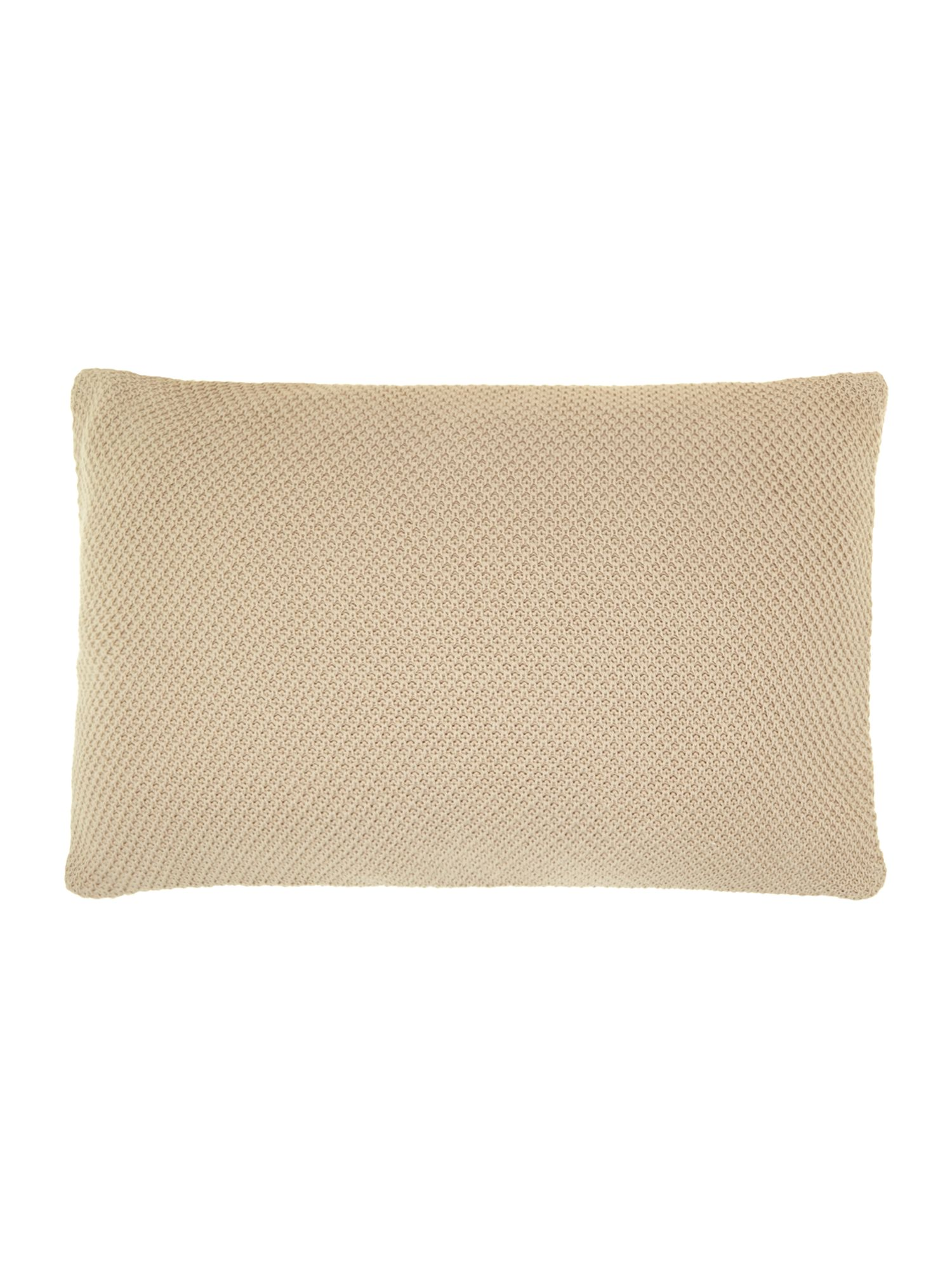 Cream knitted cushion