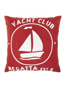 Red yacht club cushion