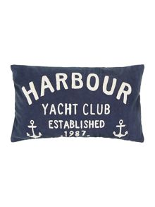 Navy yacht club cushion