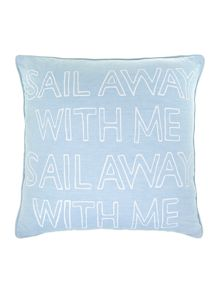 Sail away with me cushion