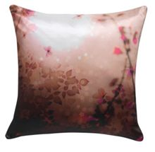 Pink digital print cushion
