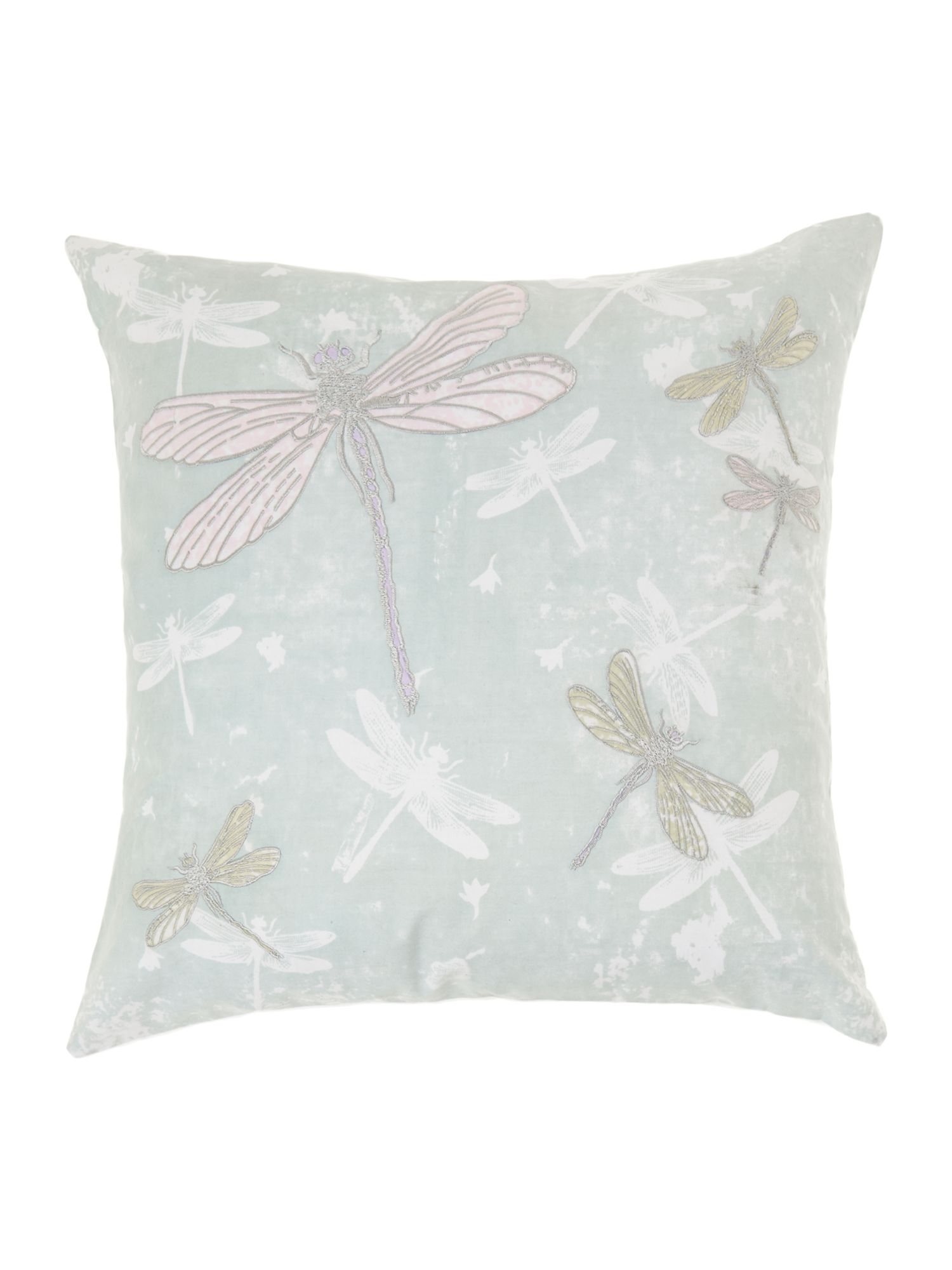 Dragonflies silhouette cushion