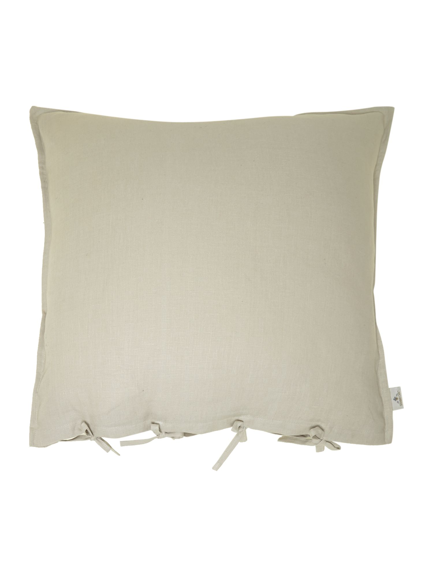 Taupe oversized linen cushion