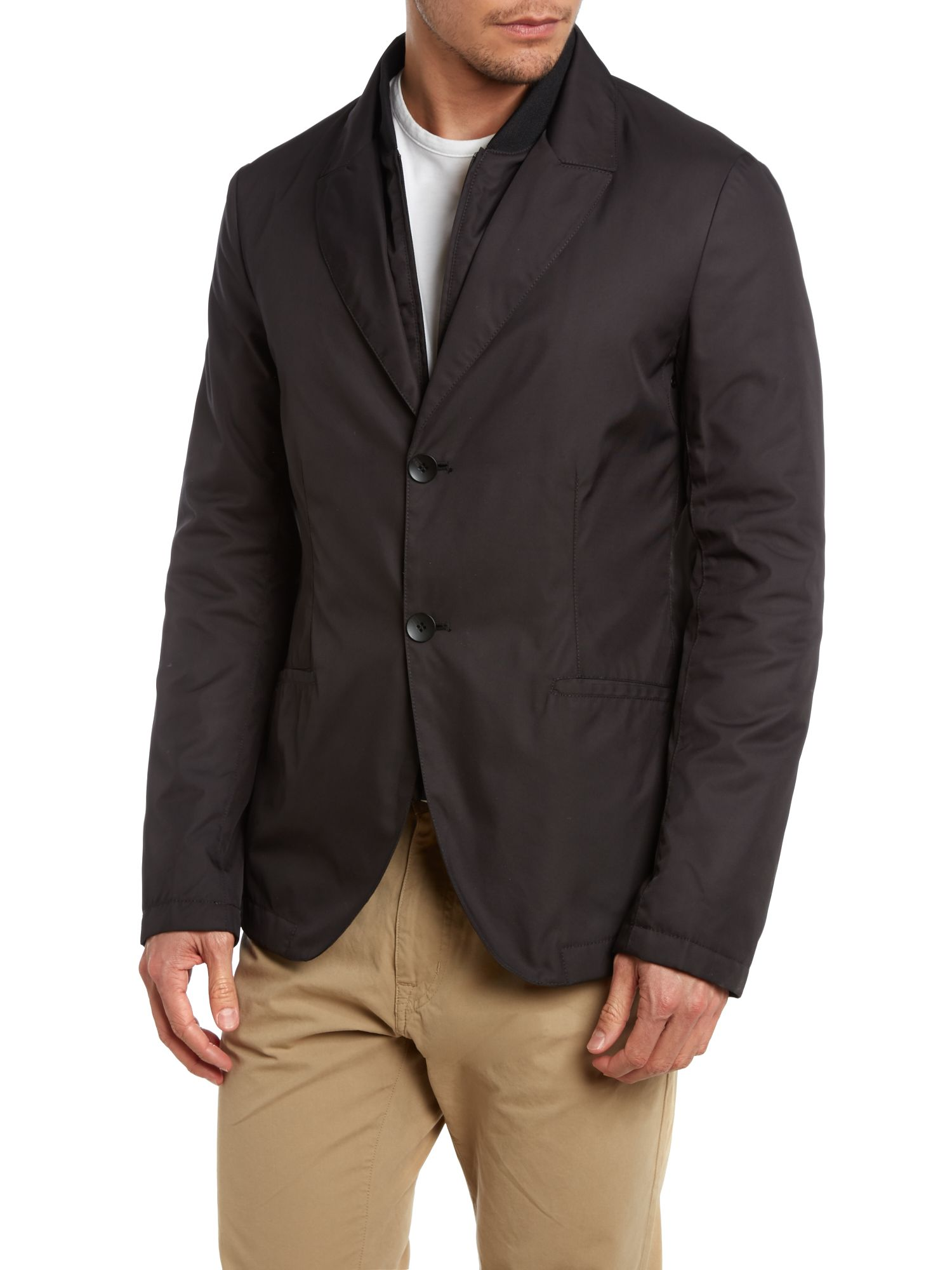 Two in one jacket insert zip through