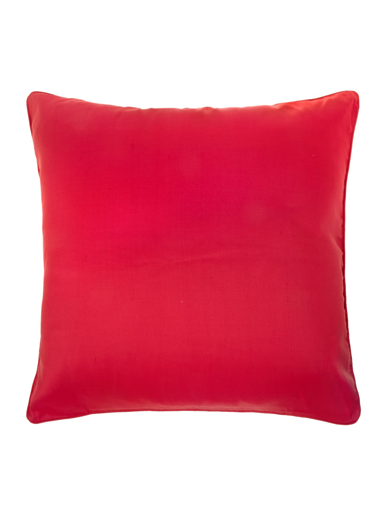 Red oversized silk cushion