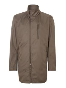 Asymetric zip overcoat