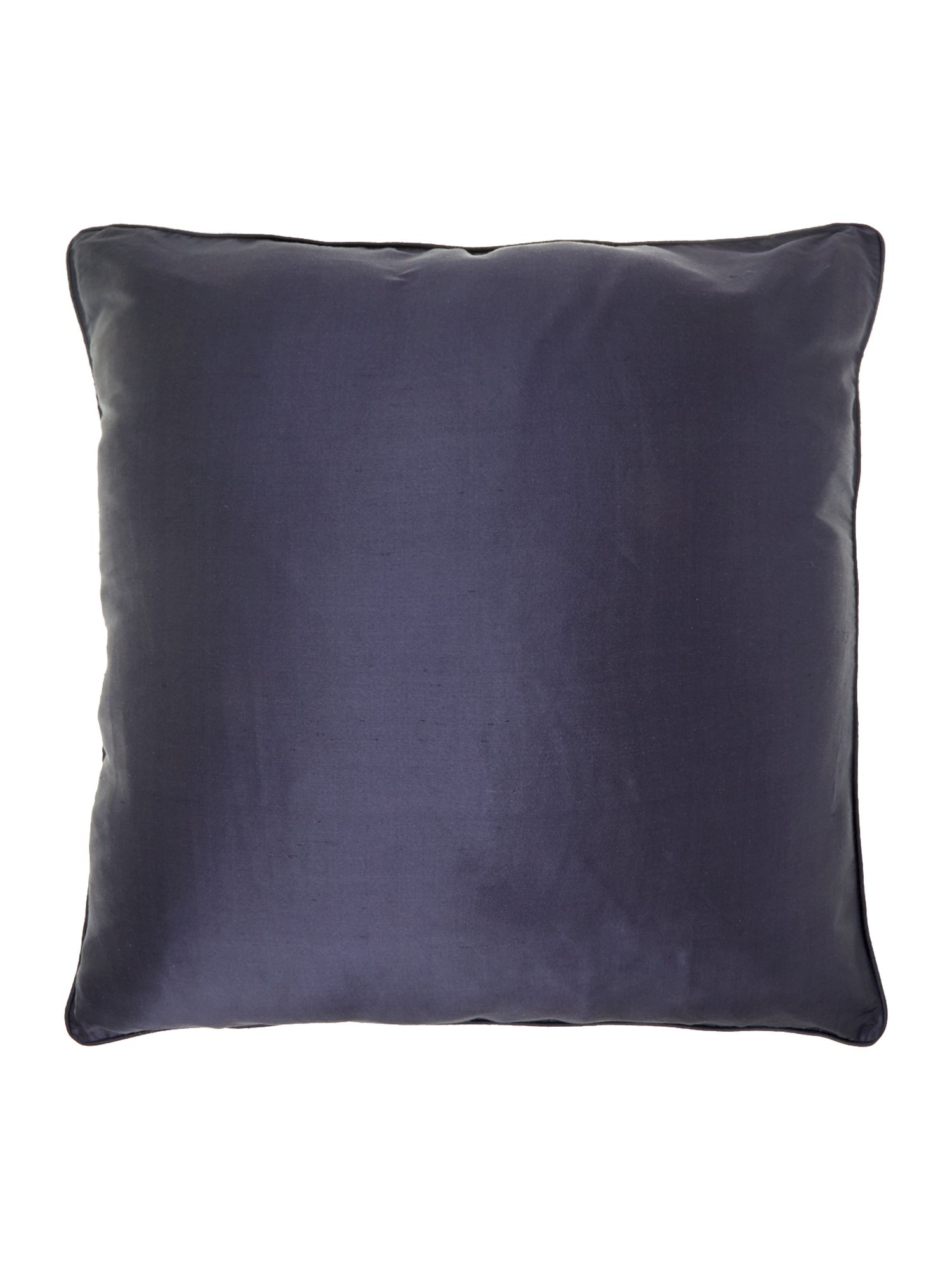 Slate oversized silk cushion
