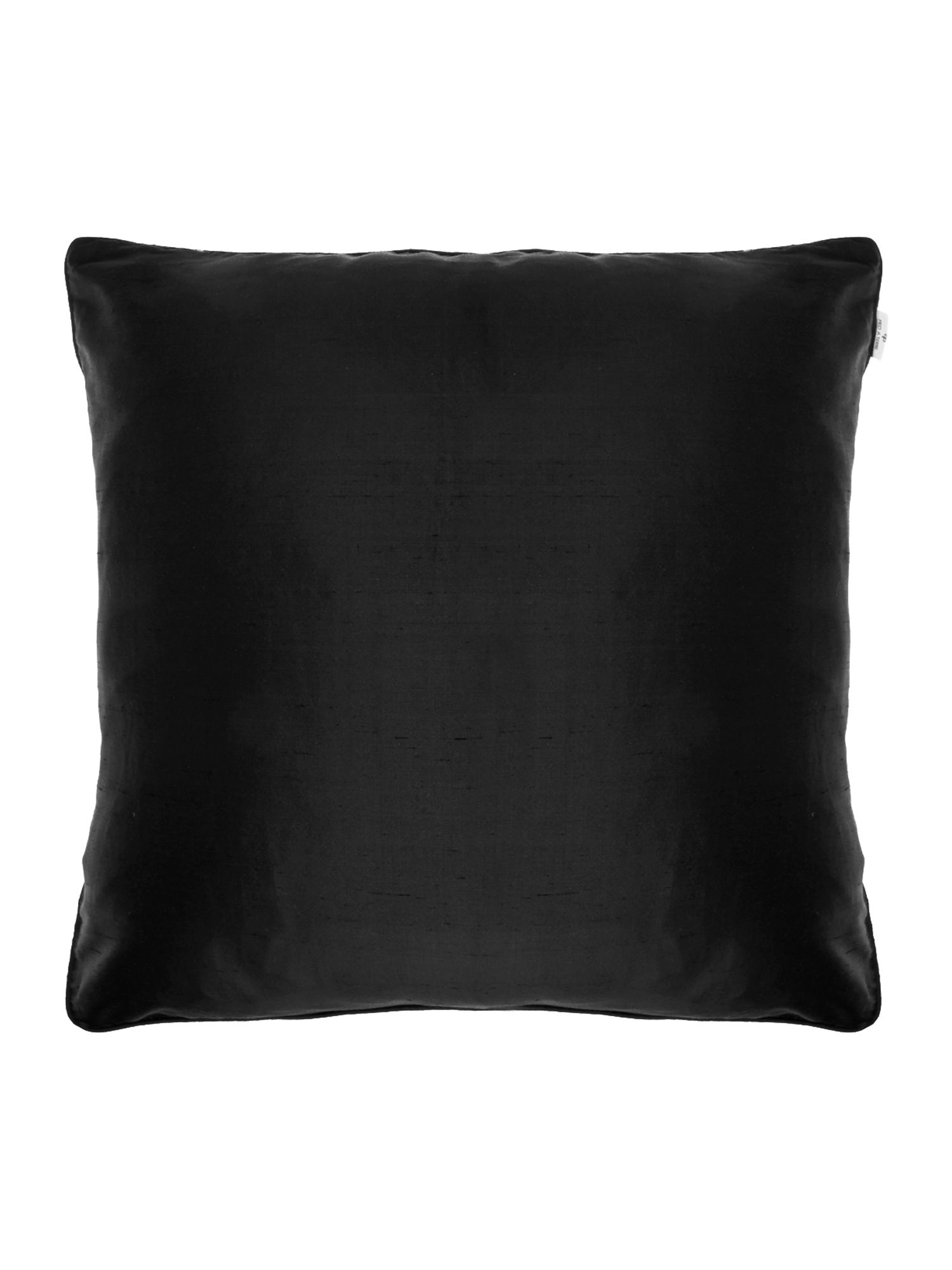 Black oversized silk cushion