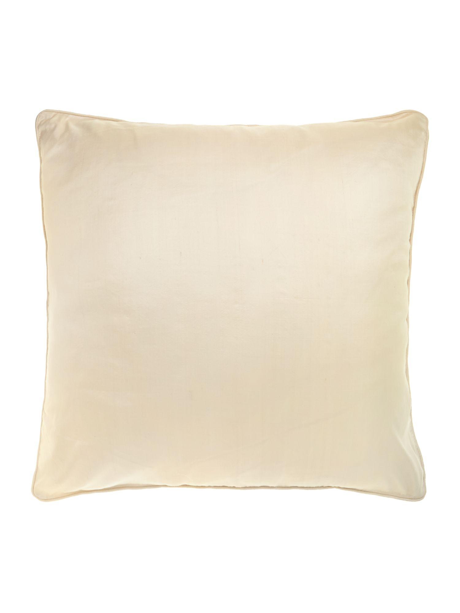 Cream oversized silk cushion