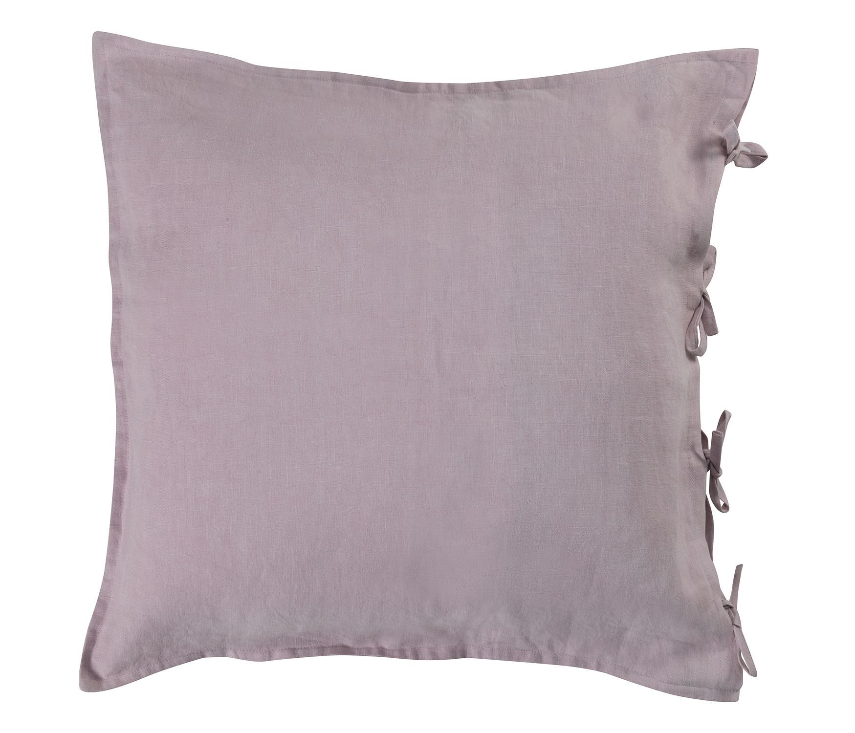 Blush oversized linen cushion