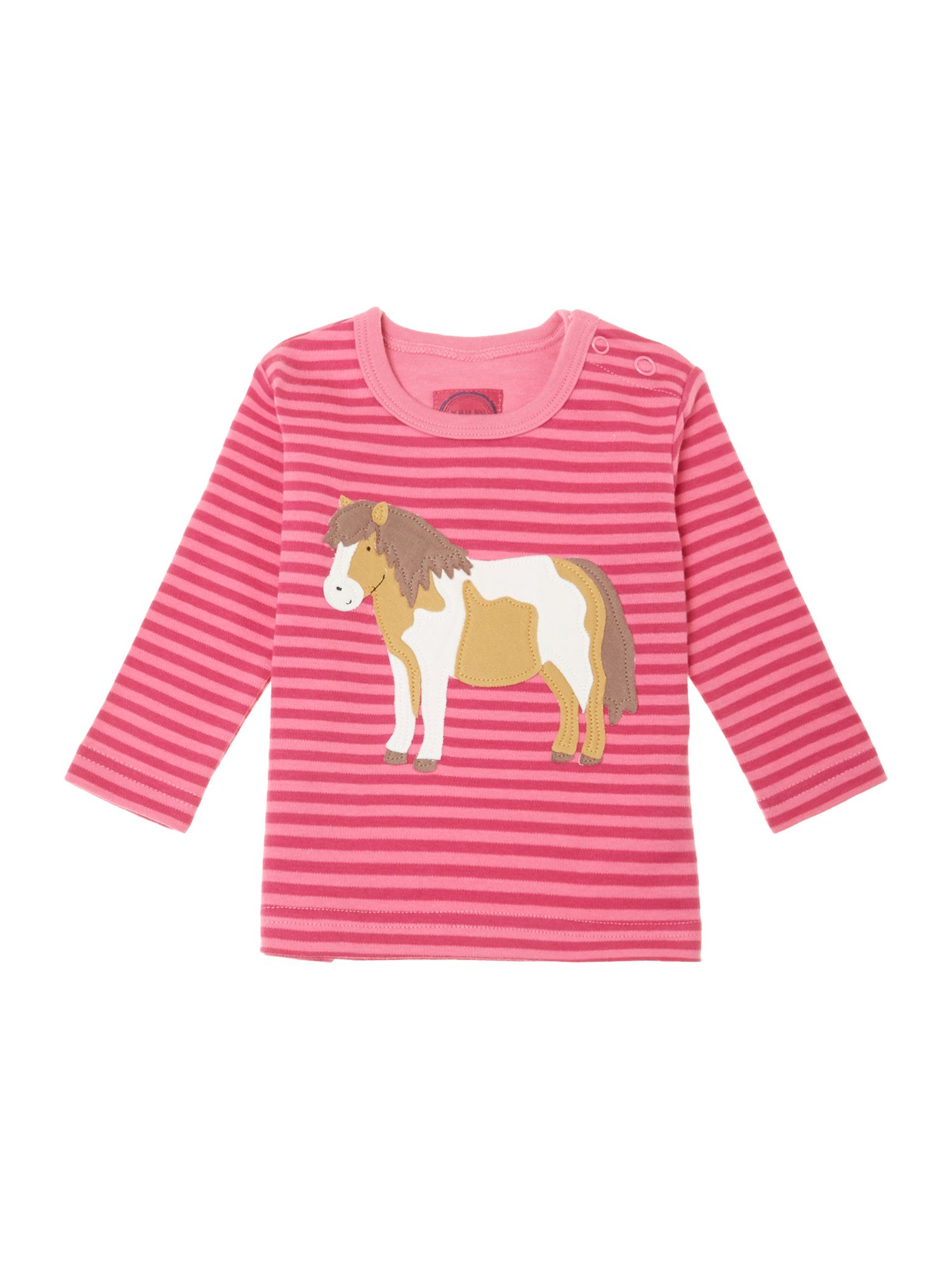 Girl`s horse applique t-shirt