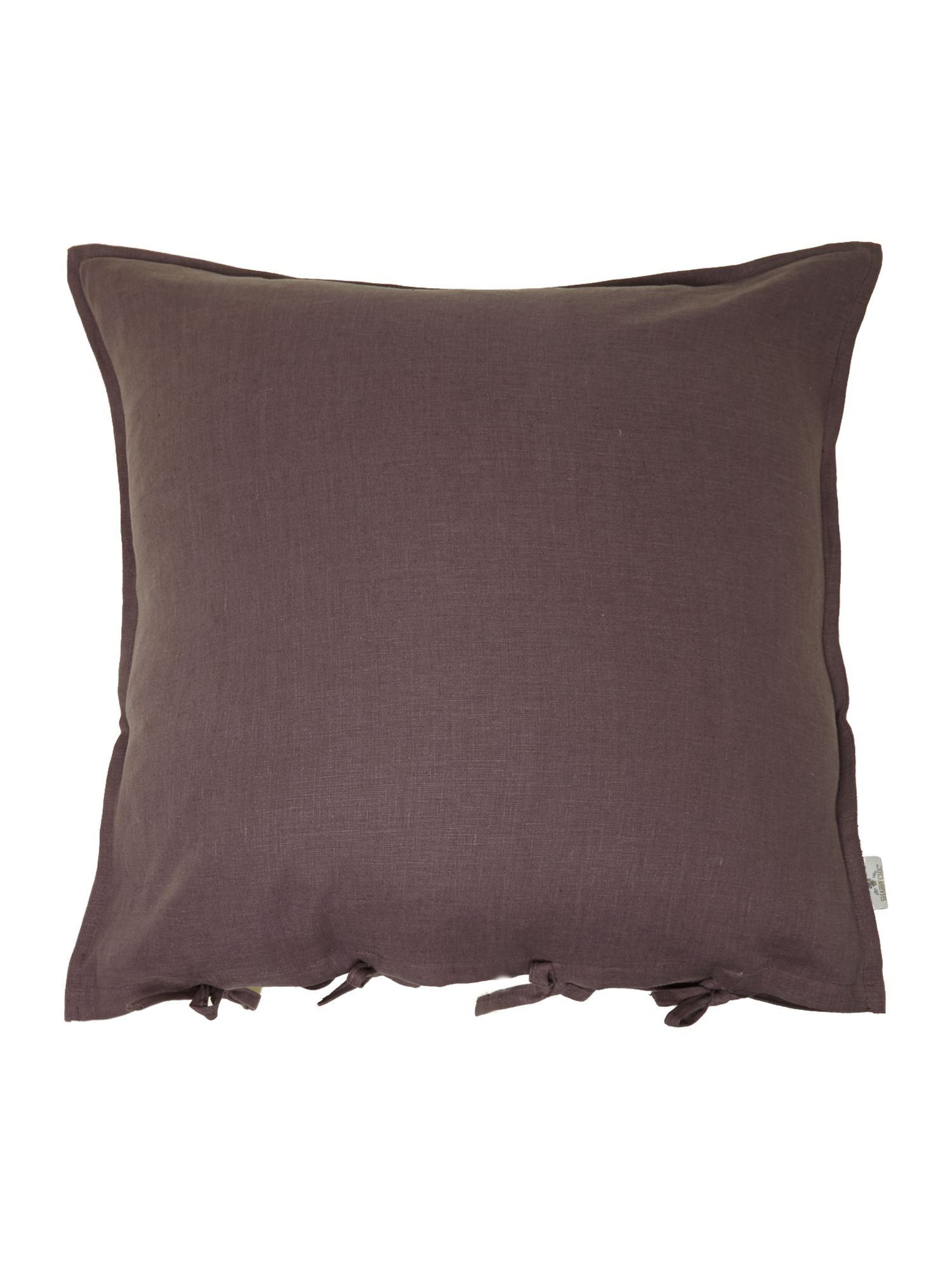 Plum oversized linen cushion