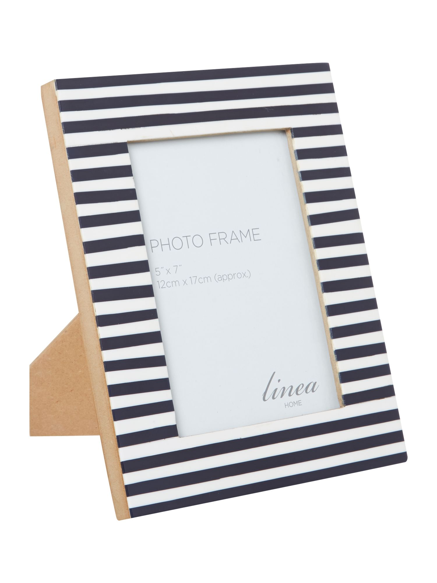 Nautical navy striped frame 5x7