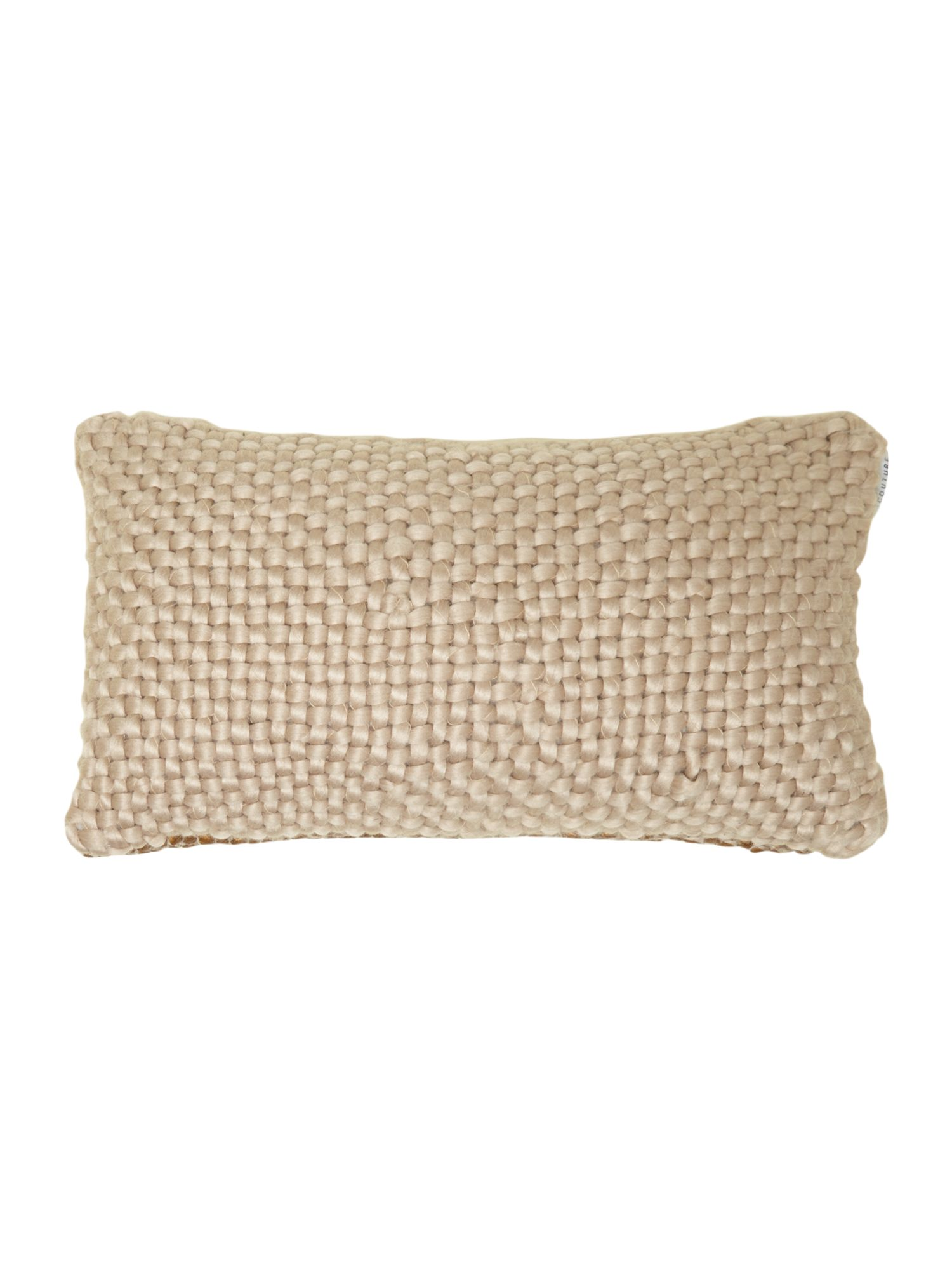 Bronze chunky knit cushion
