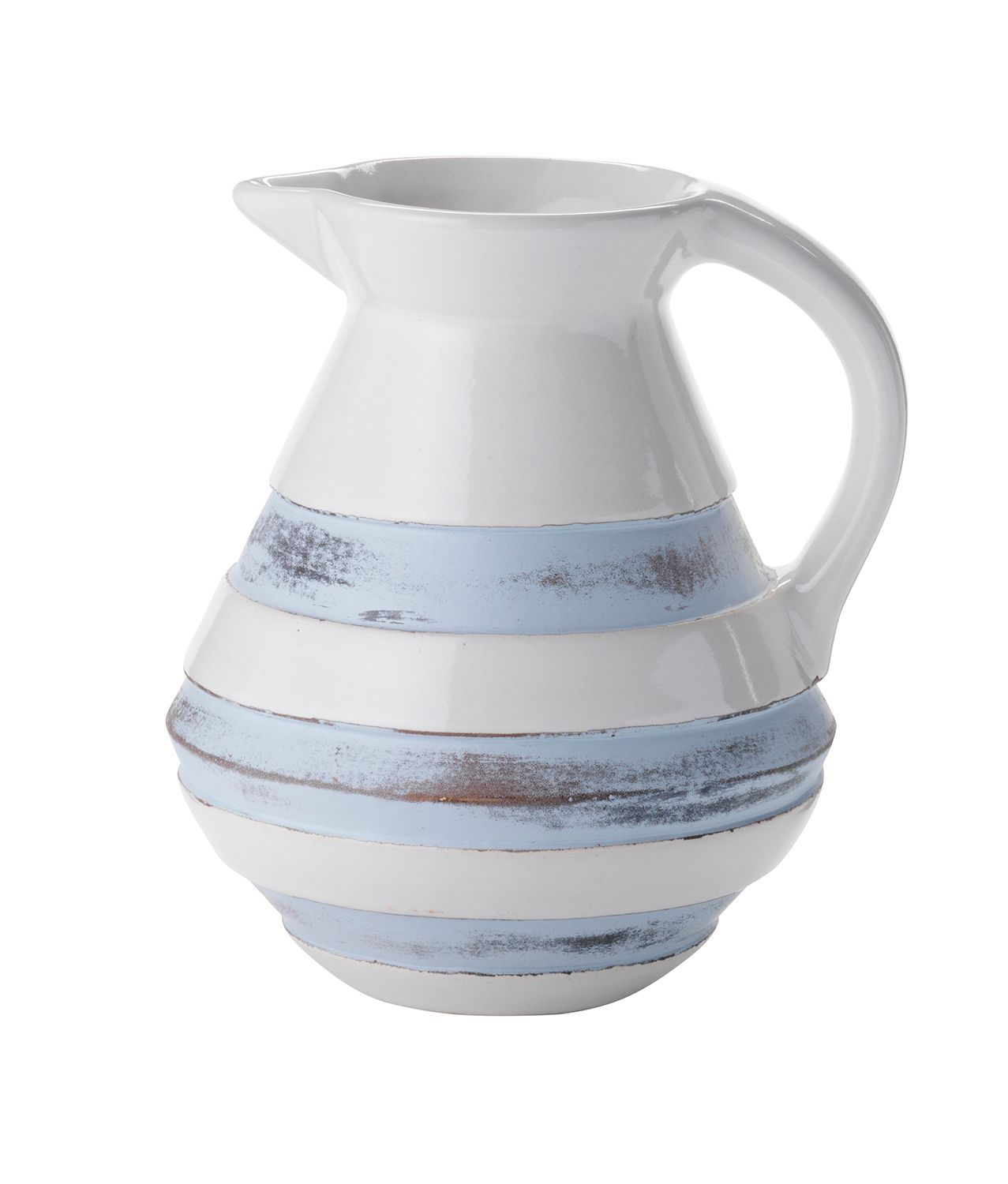 Stripe ceramic jug