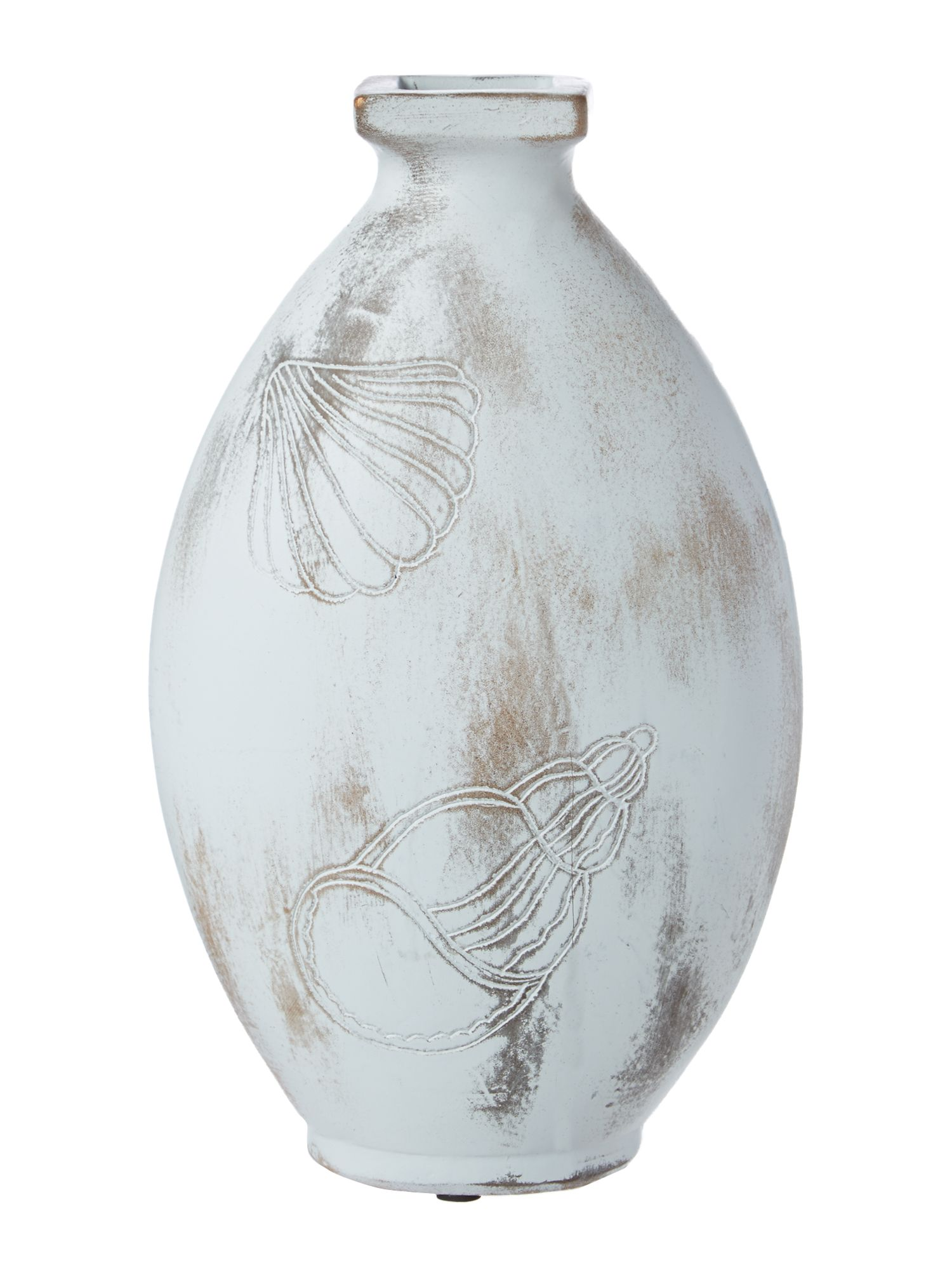 Seashell ceramic vase