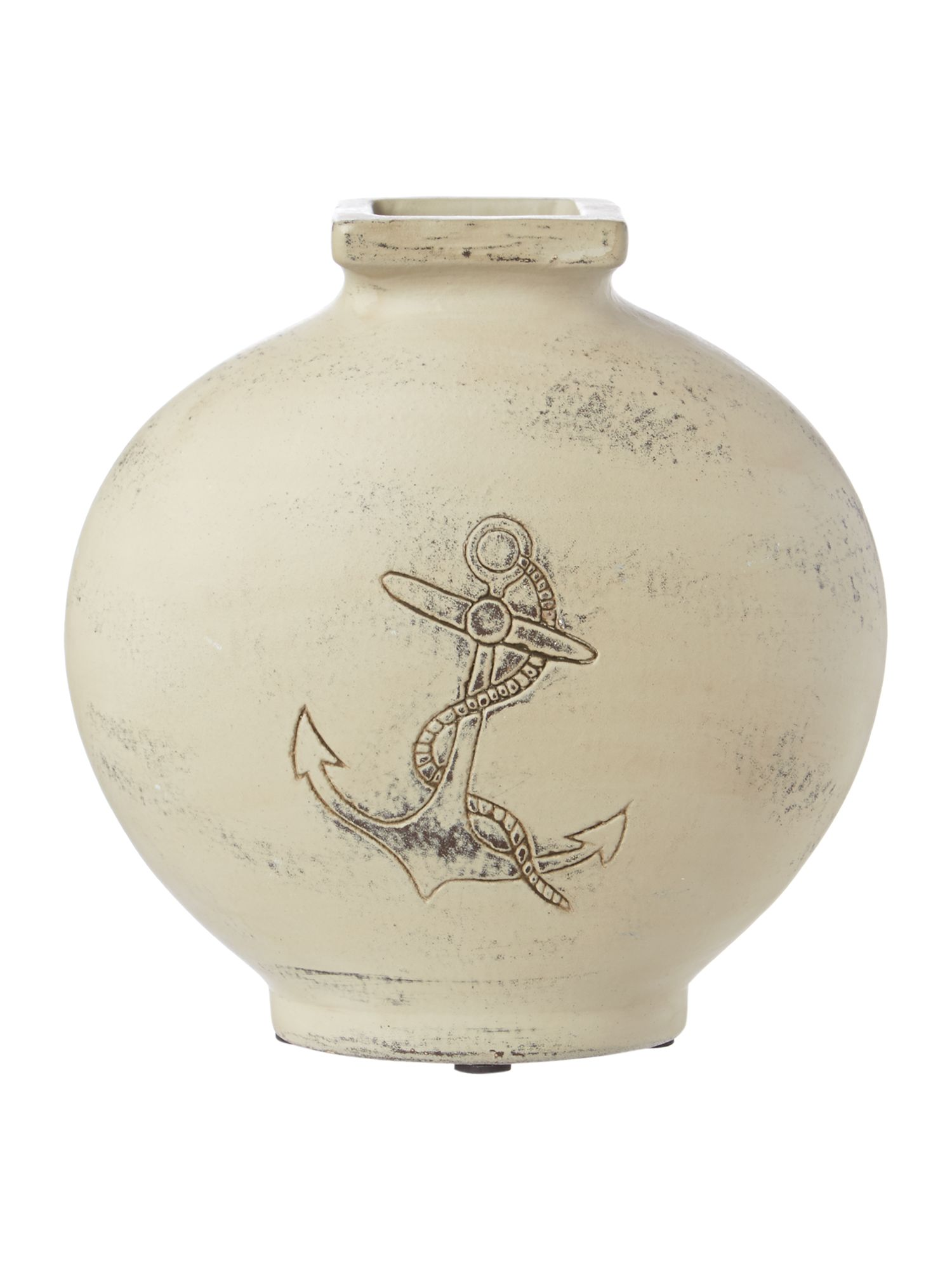 Anchor ceramic vase