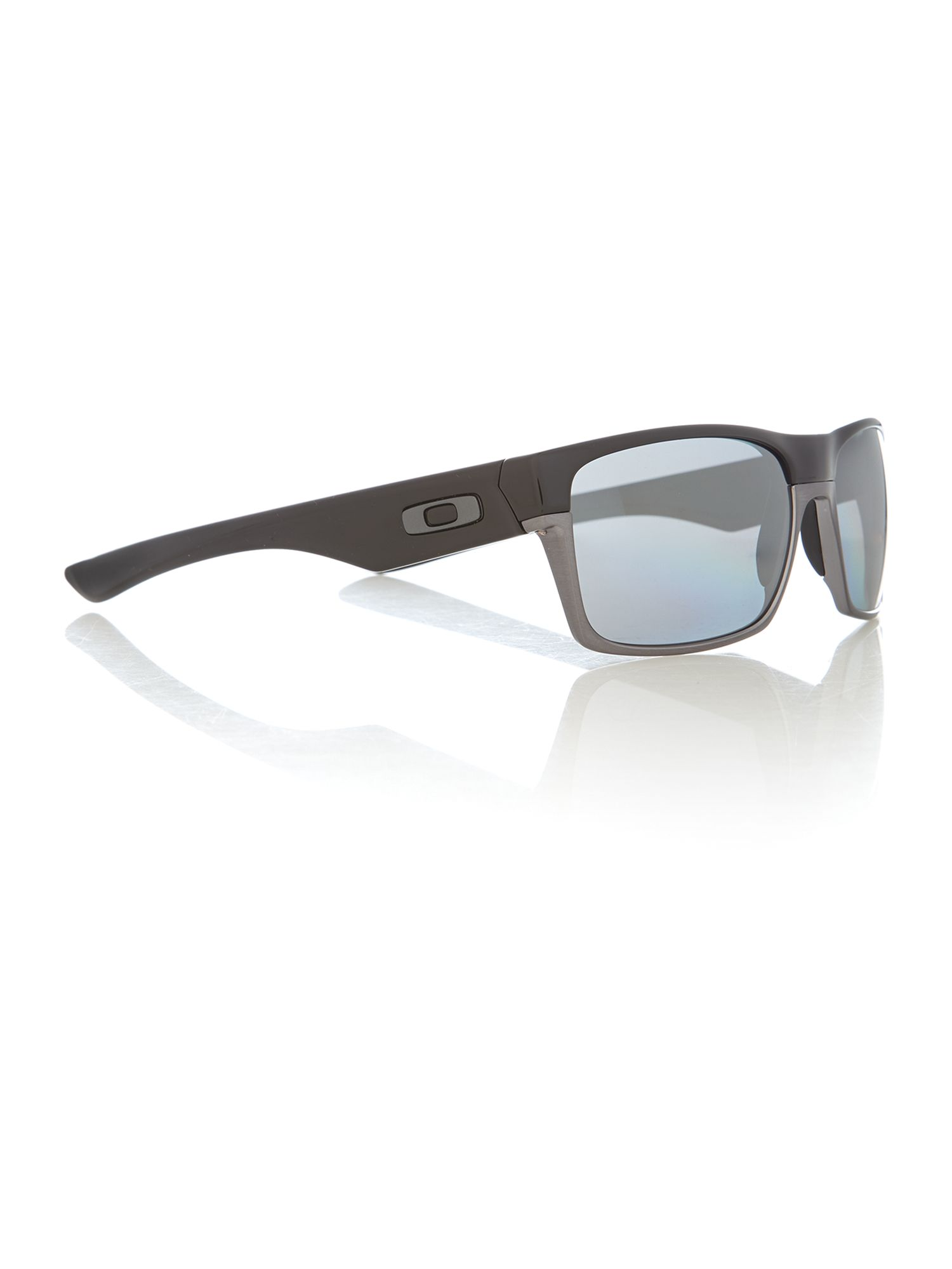 Men`s polished black two face sunglasses