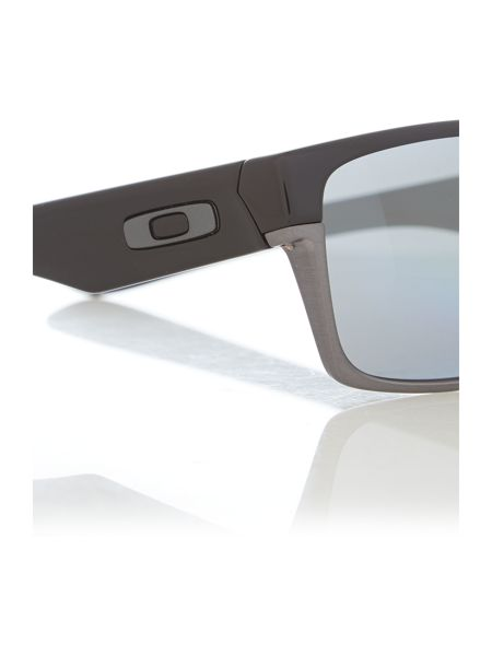 Oakley Men`s polished black two face sunglasses