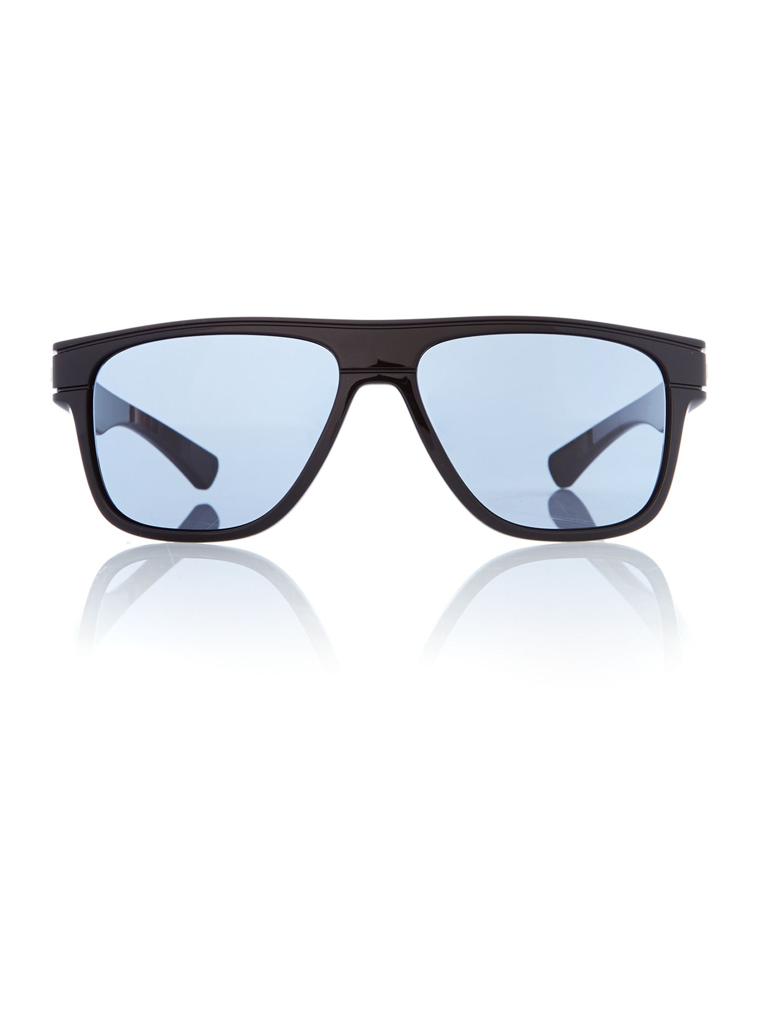 Polished Black Breadbox Sunglasses