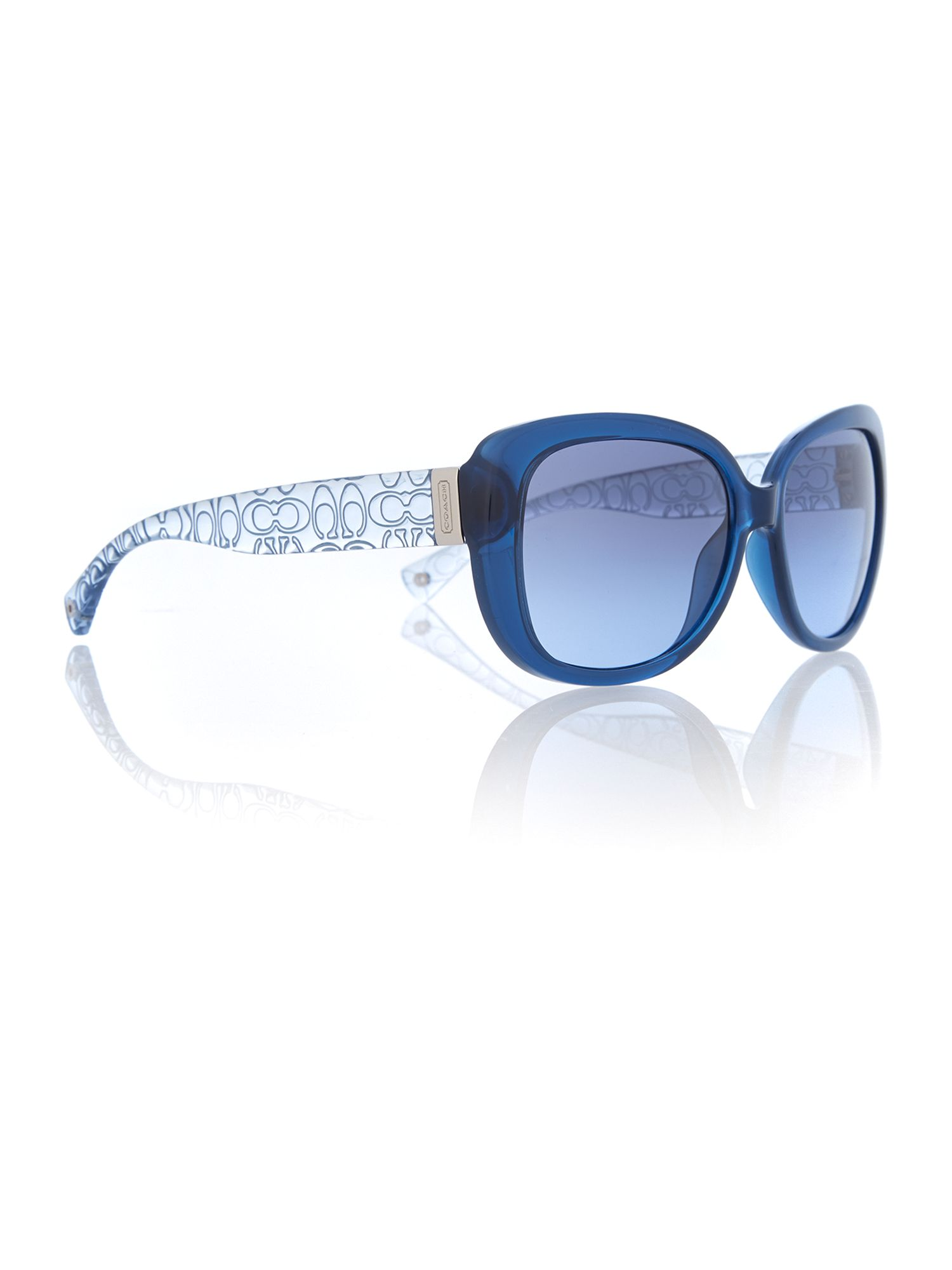 Women`s crystal square sunglasses