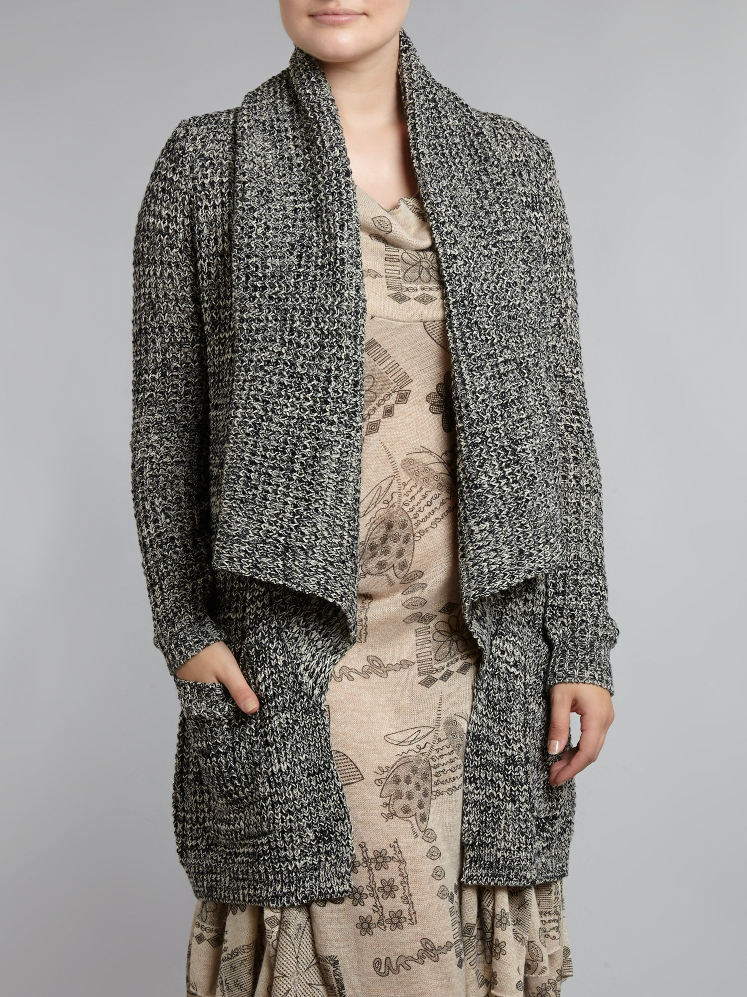 Chunky knit cardigan wrap