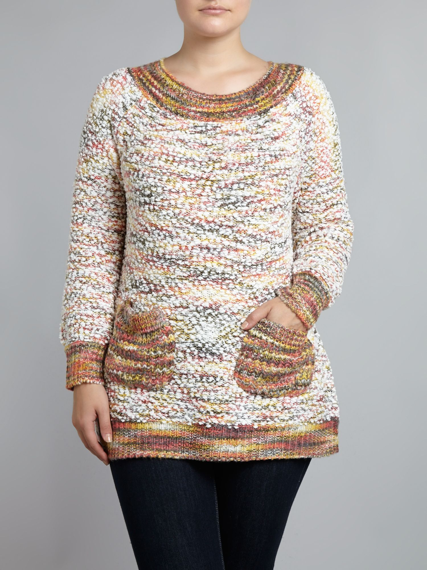 Bobble knit pocket jumper