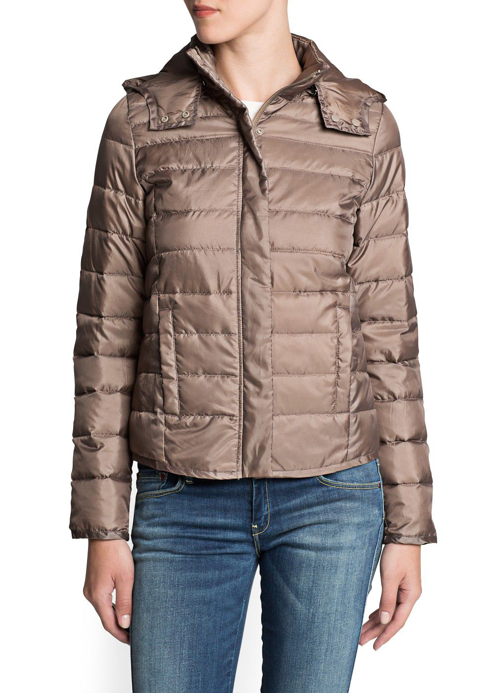 Foldable hooded  Down feather coat