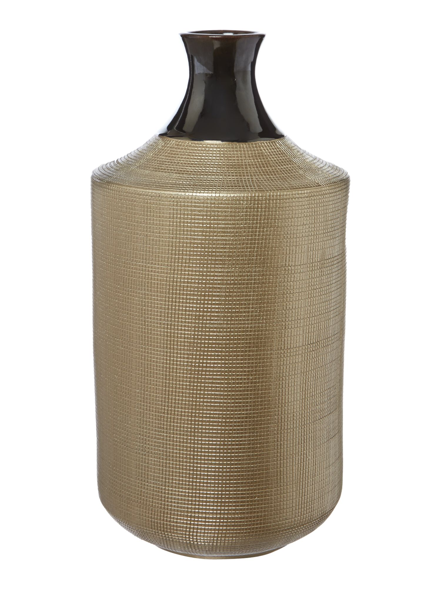 Bronze ceramic vase, tall